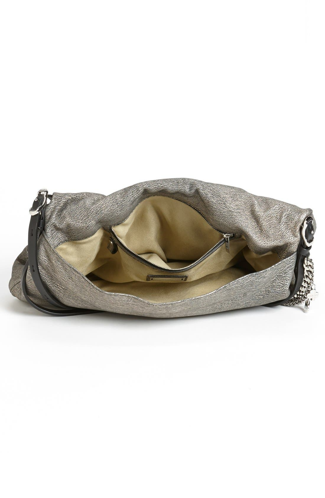 Alternate Image 3  - Jimmy Choo 'Biker - Large' Metallic Suede Shoulder Bag