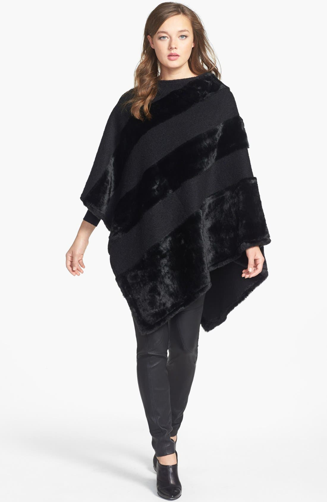 Alternate Image 1 Selected - Nordstrom Faux Fur Poncho