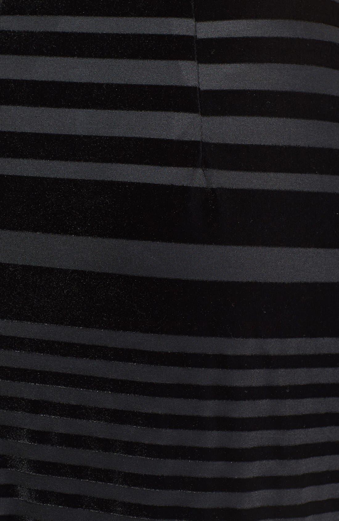 Alternate Image 3  - Taylor Dresses Stripe Velvet Dress