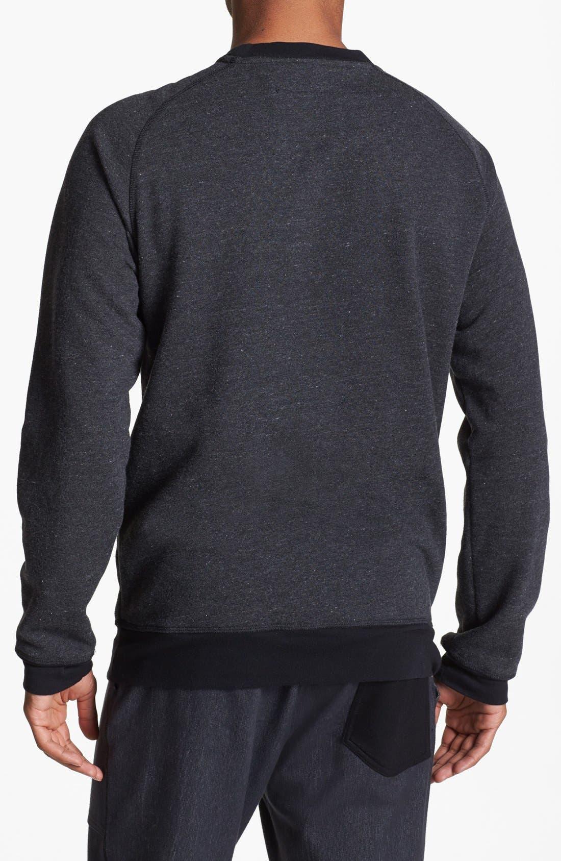 Alternate Image 2  - UNCL Raglan Crewneck Sweater