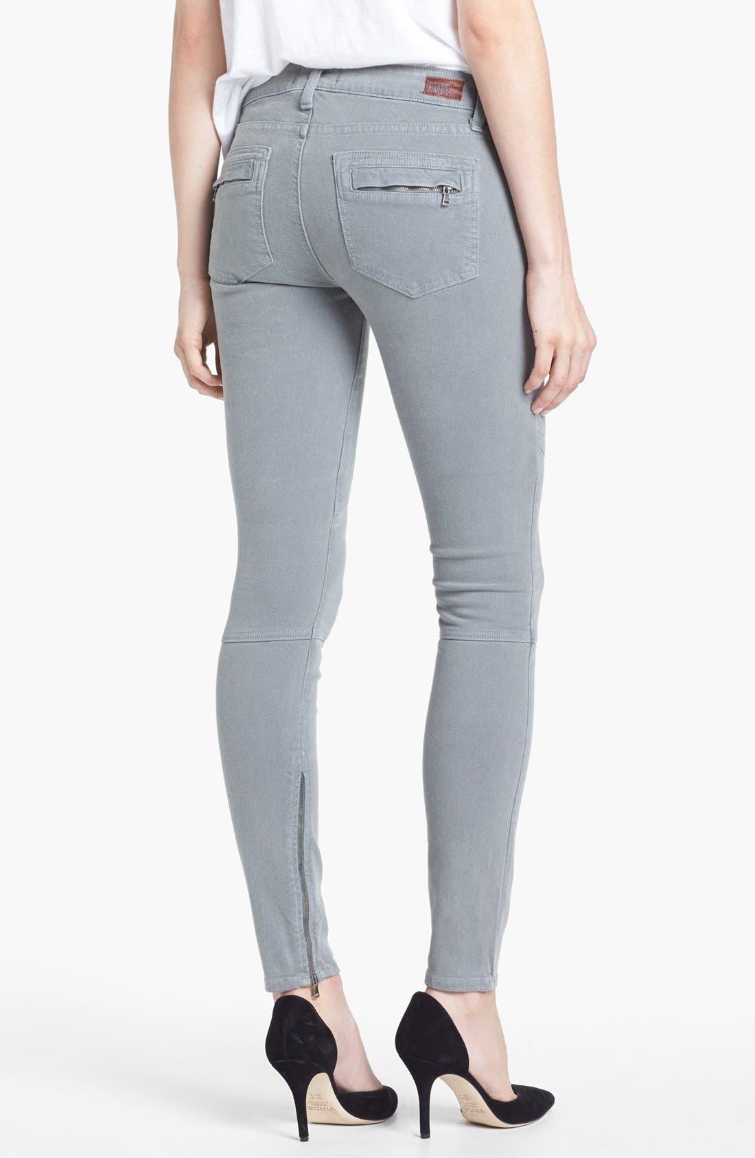 Alternate Image 2  - Paige Denim 'Marley' Zip Detail Skinny Jeans (Cloud Cover)