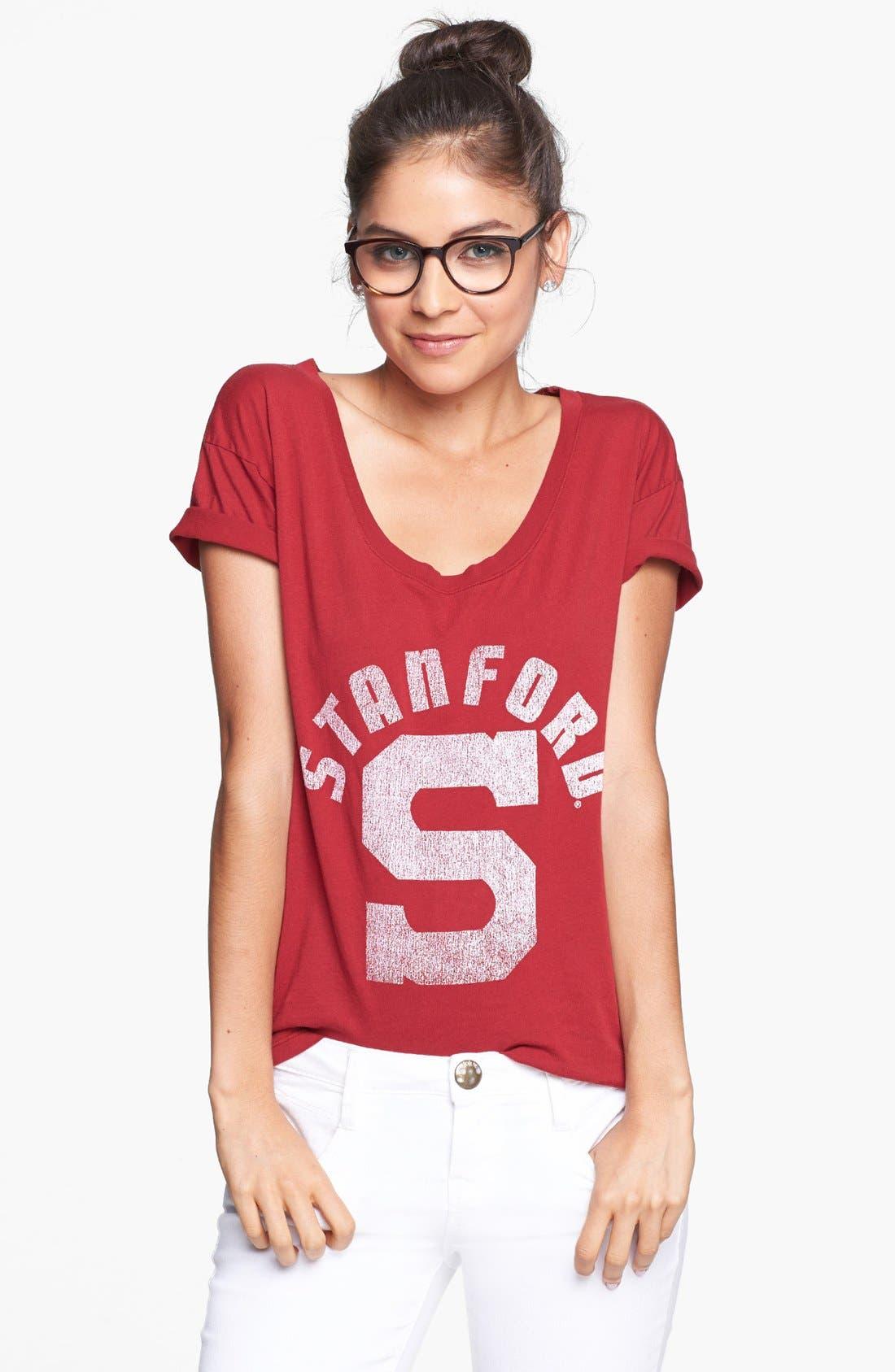 Alternate Image 1 Selected - Retro Brand 'Stanford University Cardinals' Graphic Tee (Juniors)