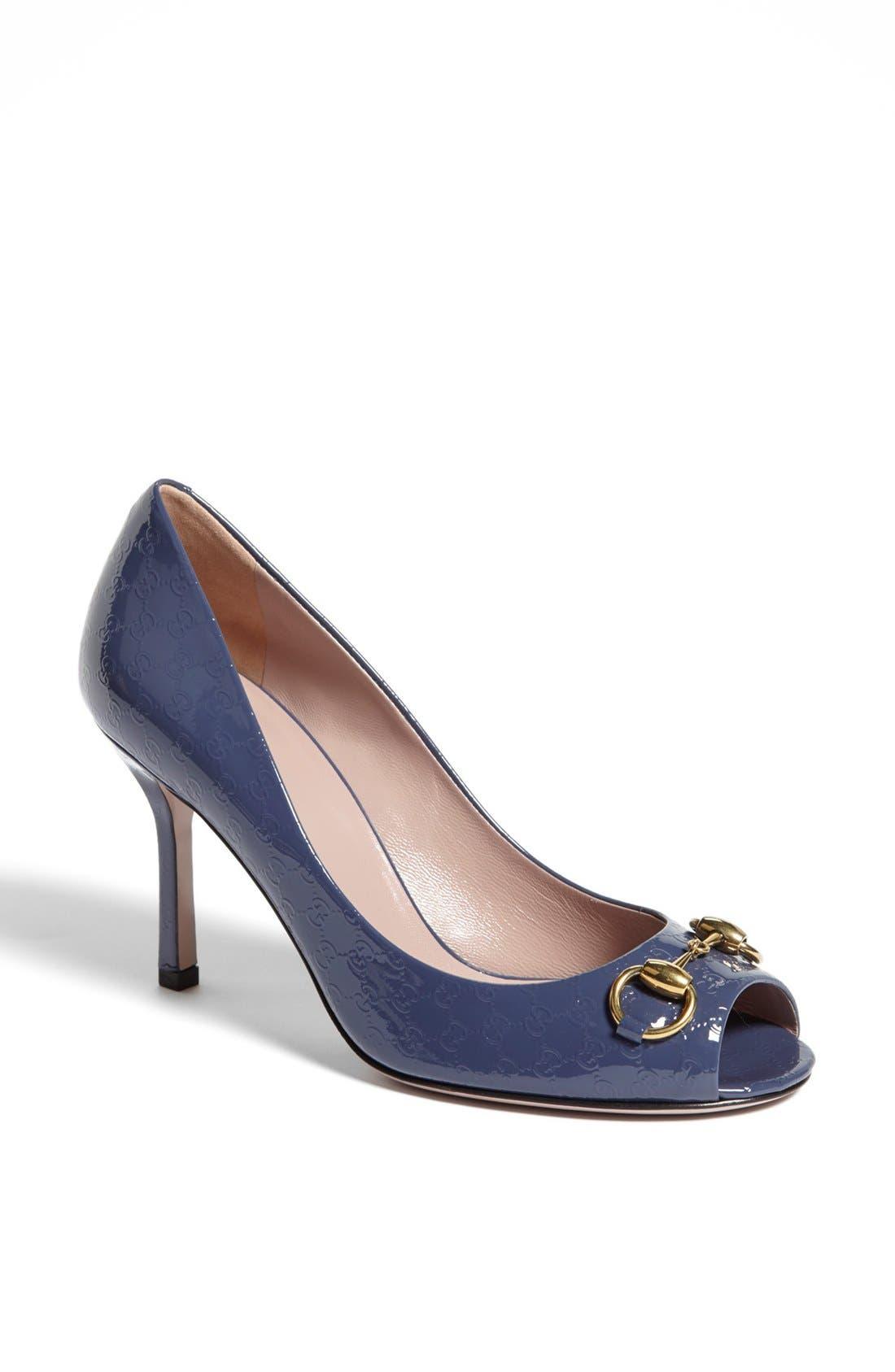 Main Image - Gucci 'Jolene' Peep Toe Pump