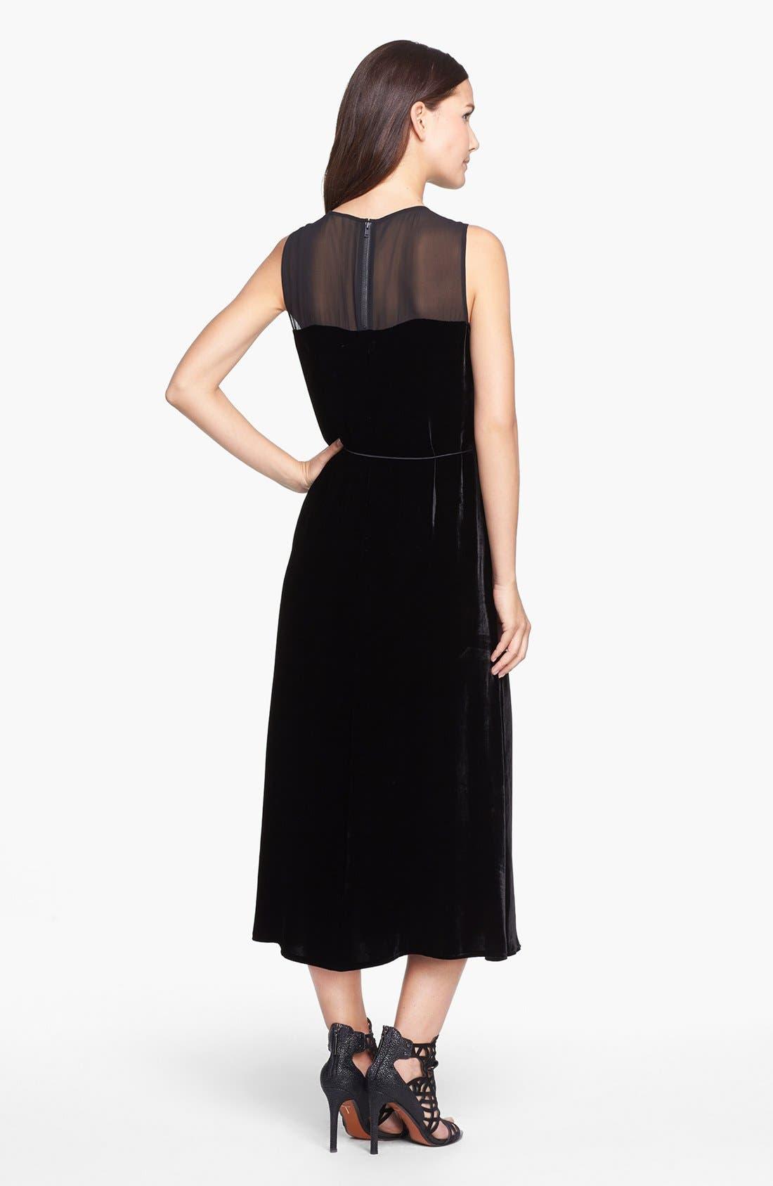 Alternate Image 2  - Eileen Fisher Washable Velvet & Silk Dress