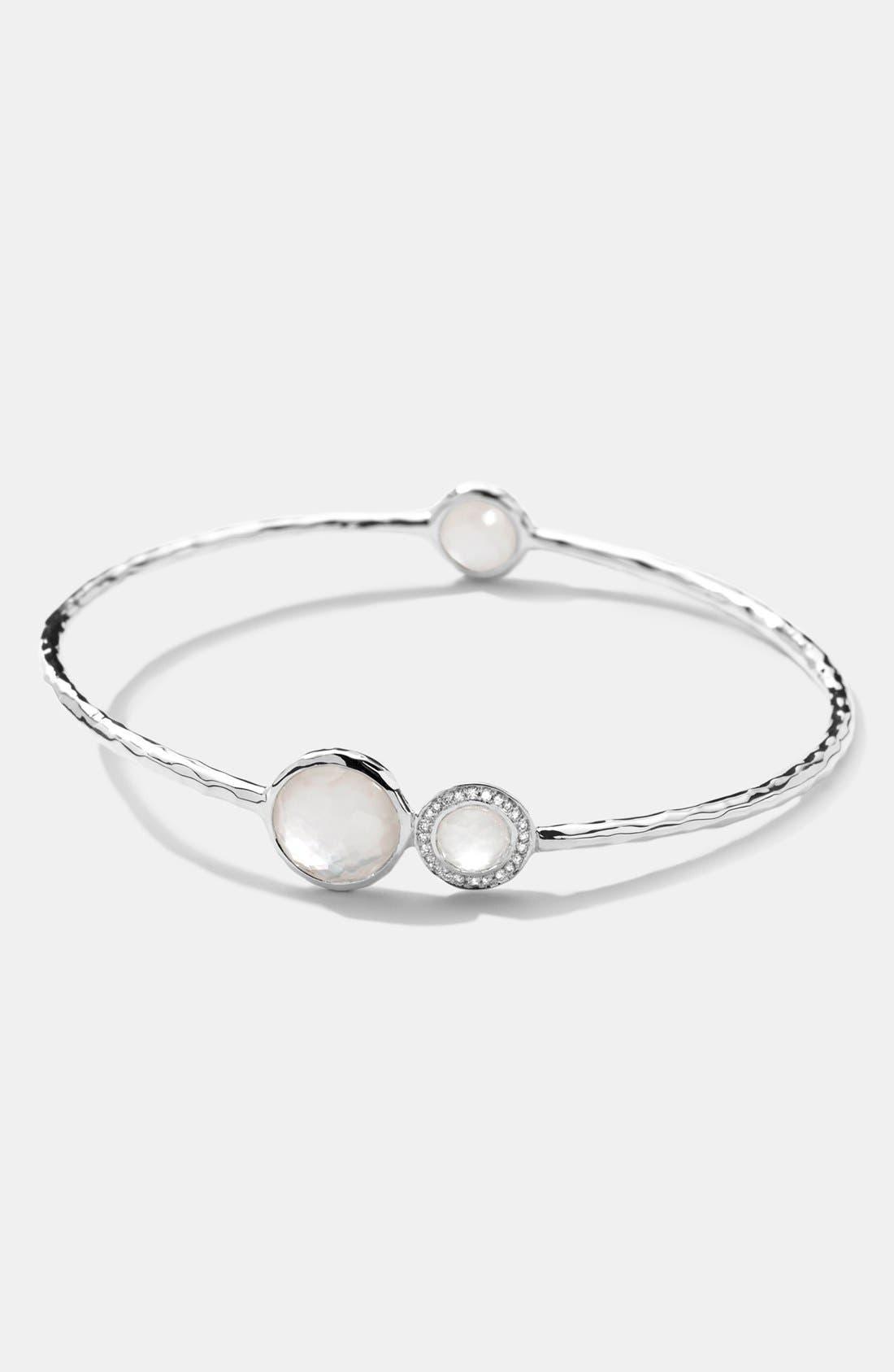 Alternate Image 1 Selected - Ippolita 'Stella' 3-Stone & Diamond Bangle