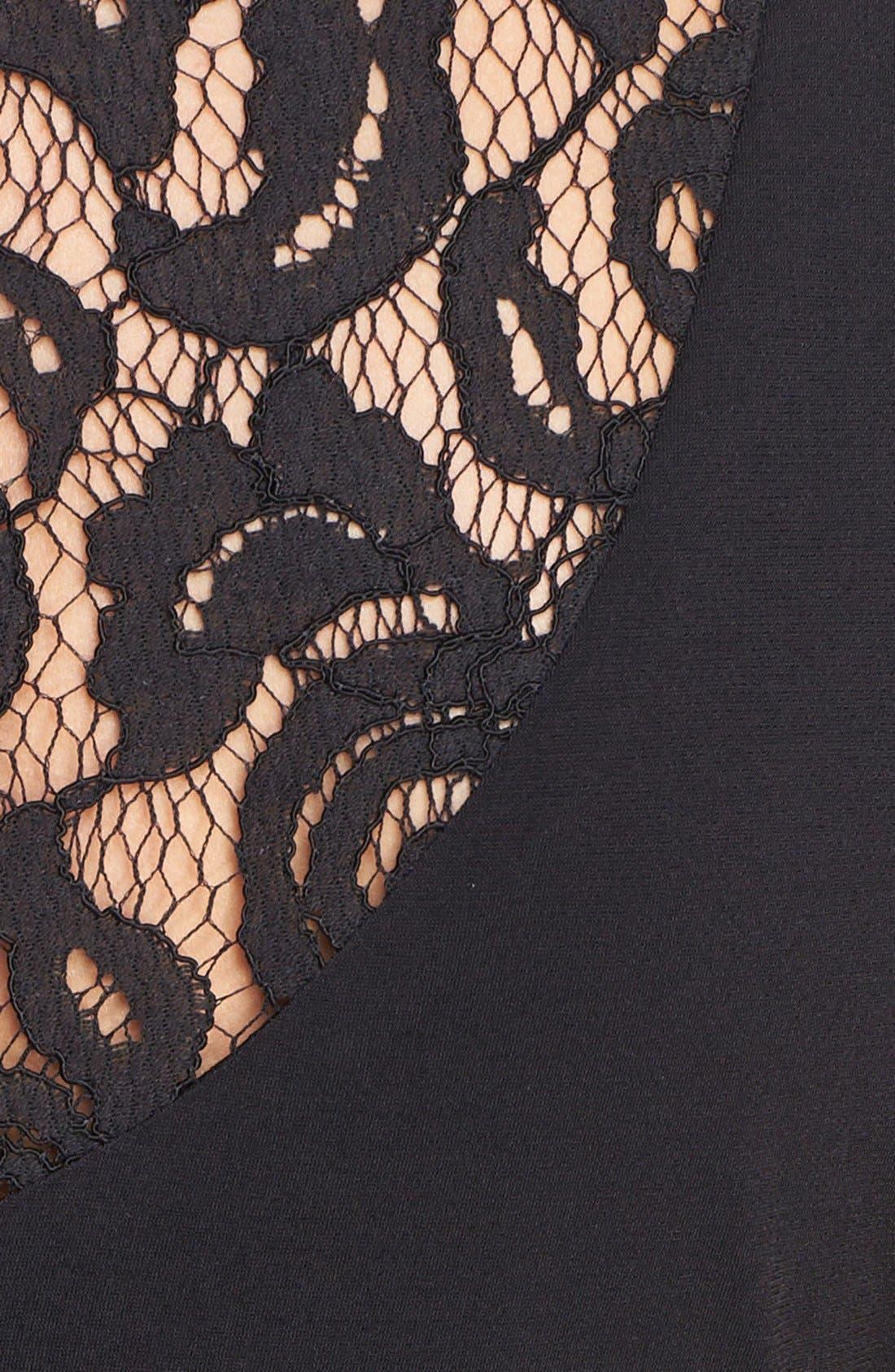 Alternate Image 4  - Ellen Tracy Embellished Lace Back Crepe Dress