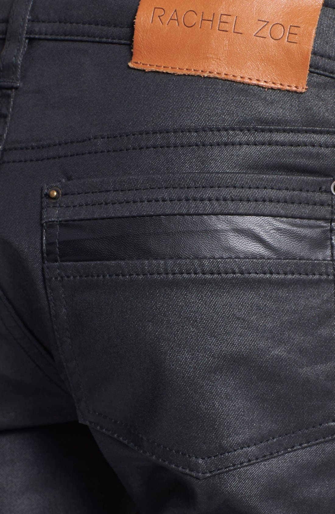 Alternate Image 3  - Rachel Zoe 'Julie' Skinny High Gloss Coated Jeans
