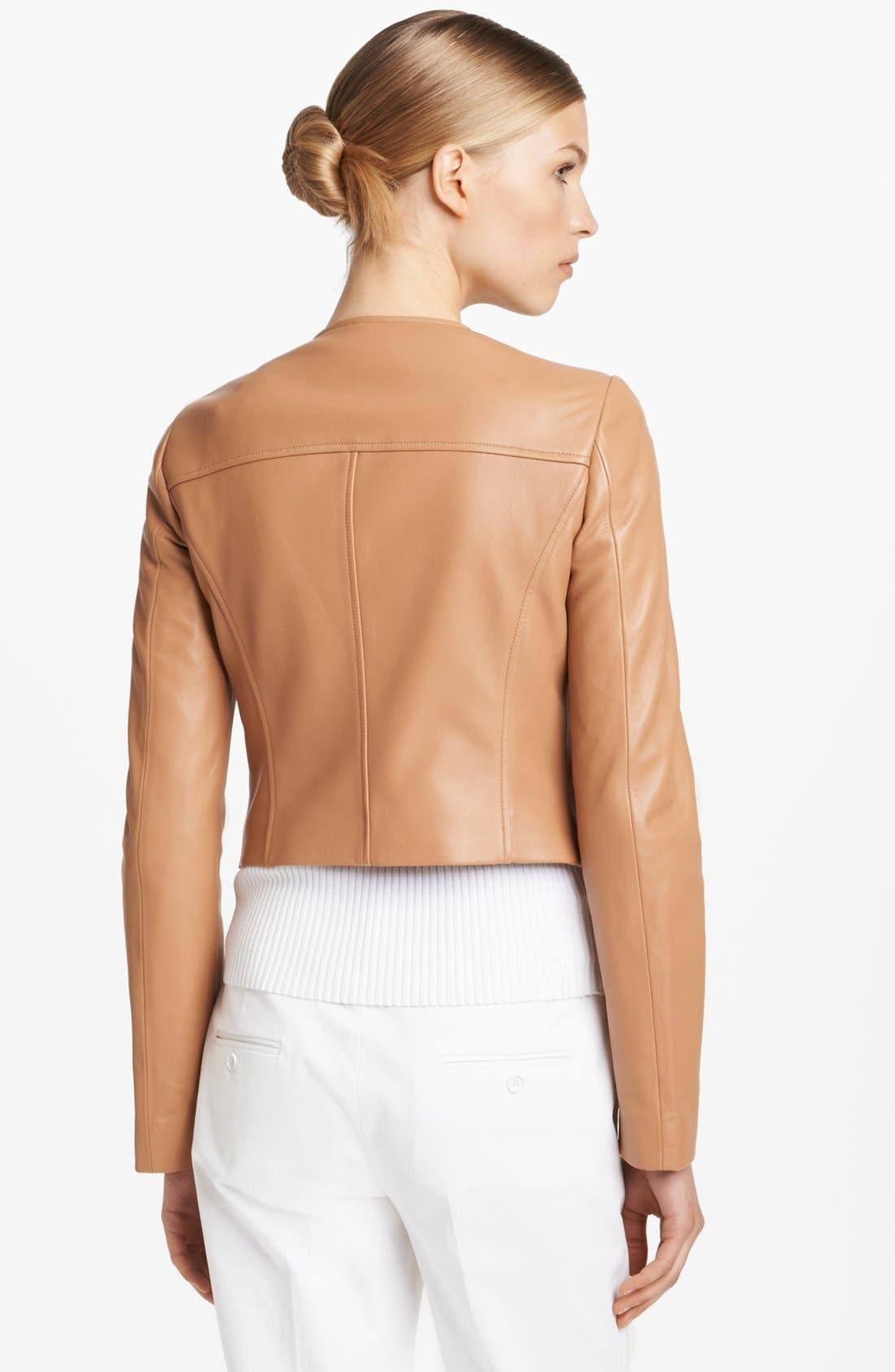 Alternate Image 2  - Michael Kors Plonge Leather Jacket