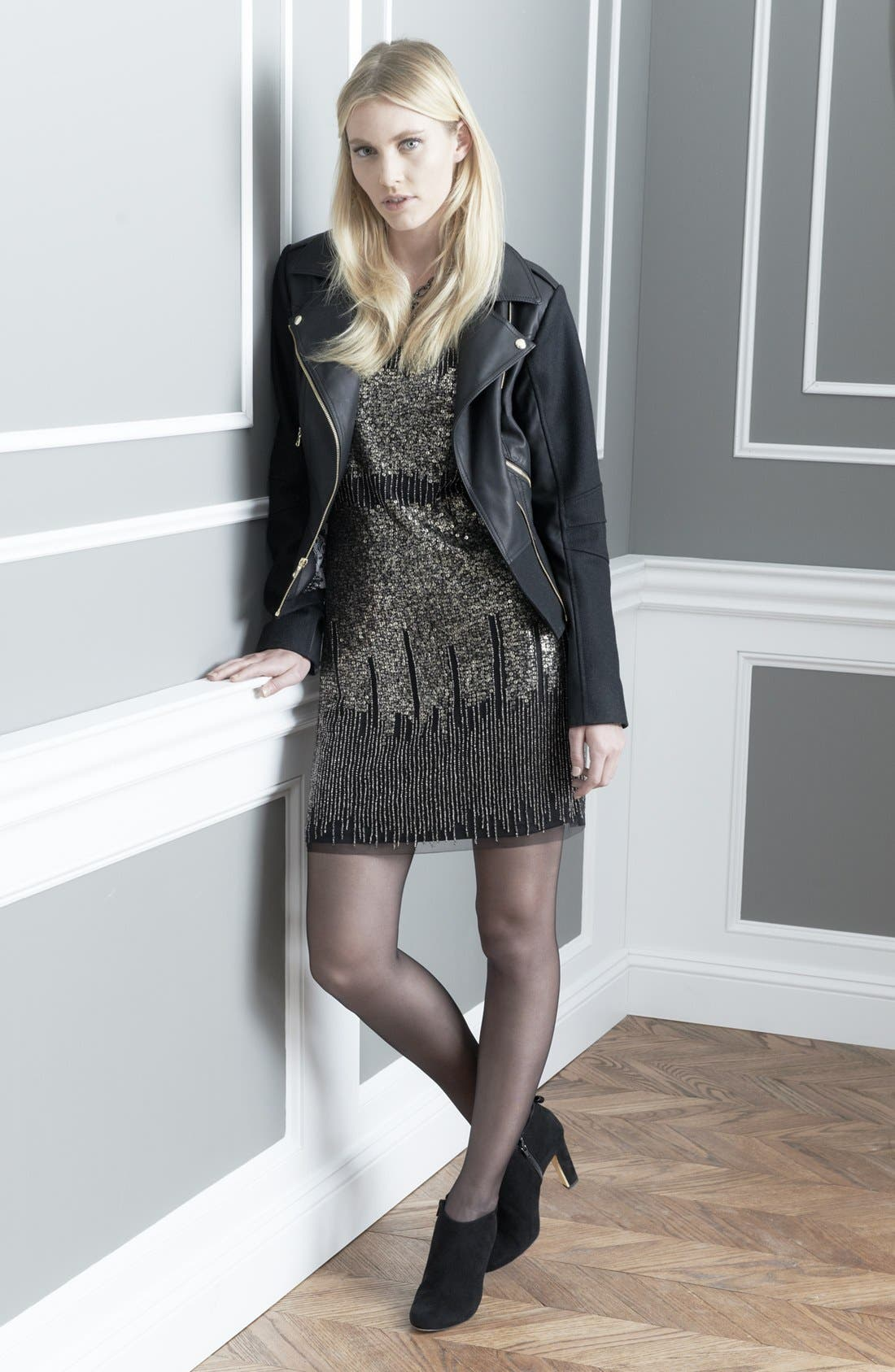 Main Image - GUESS Jacket & Adrianna Papell Dress