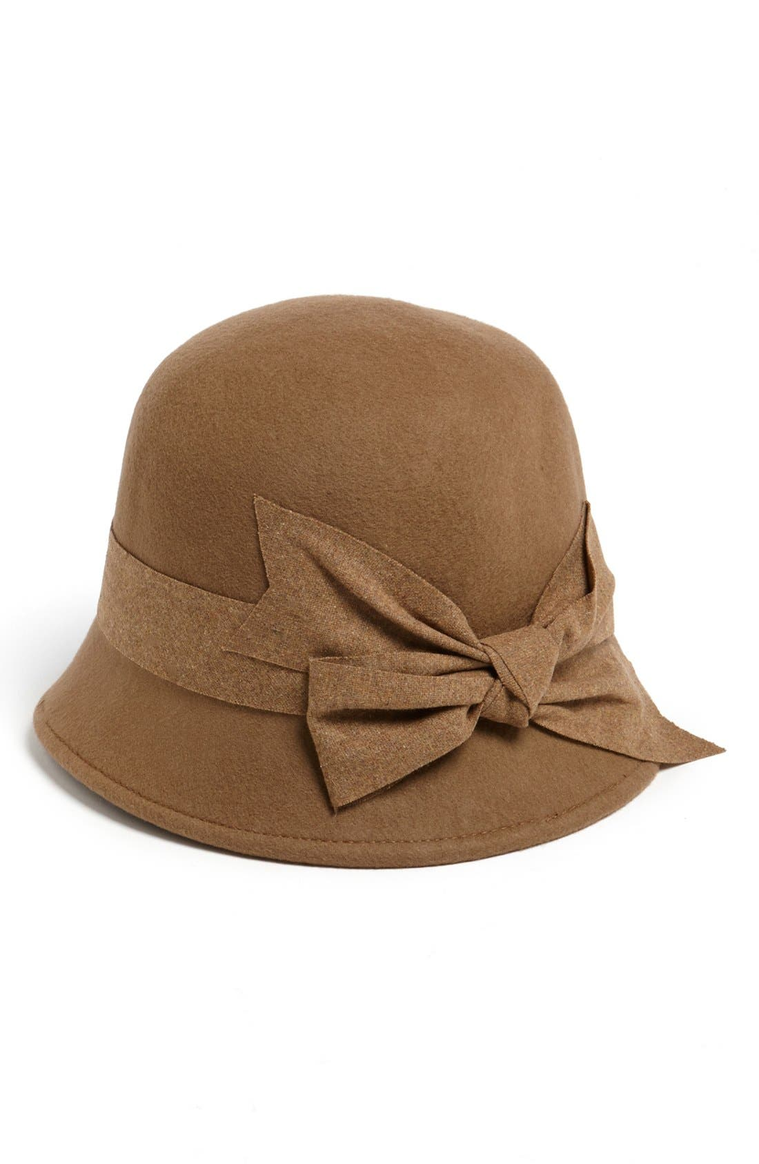Main Image - Nordstrom Large Bow Wool Felt Cloche
