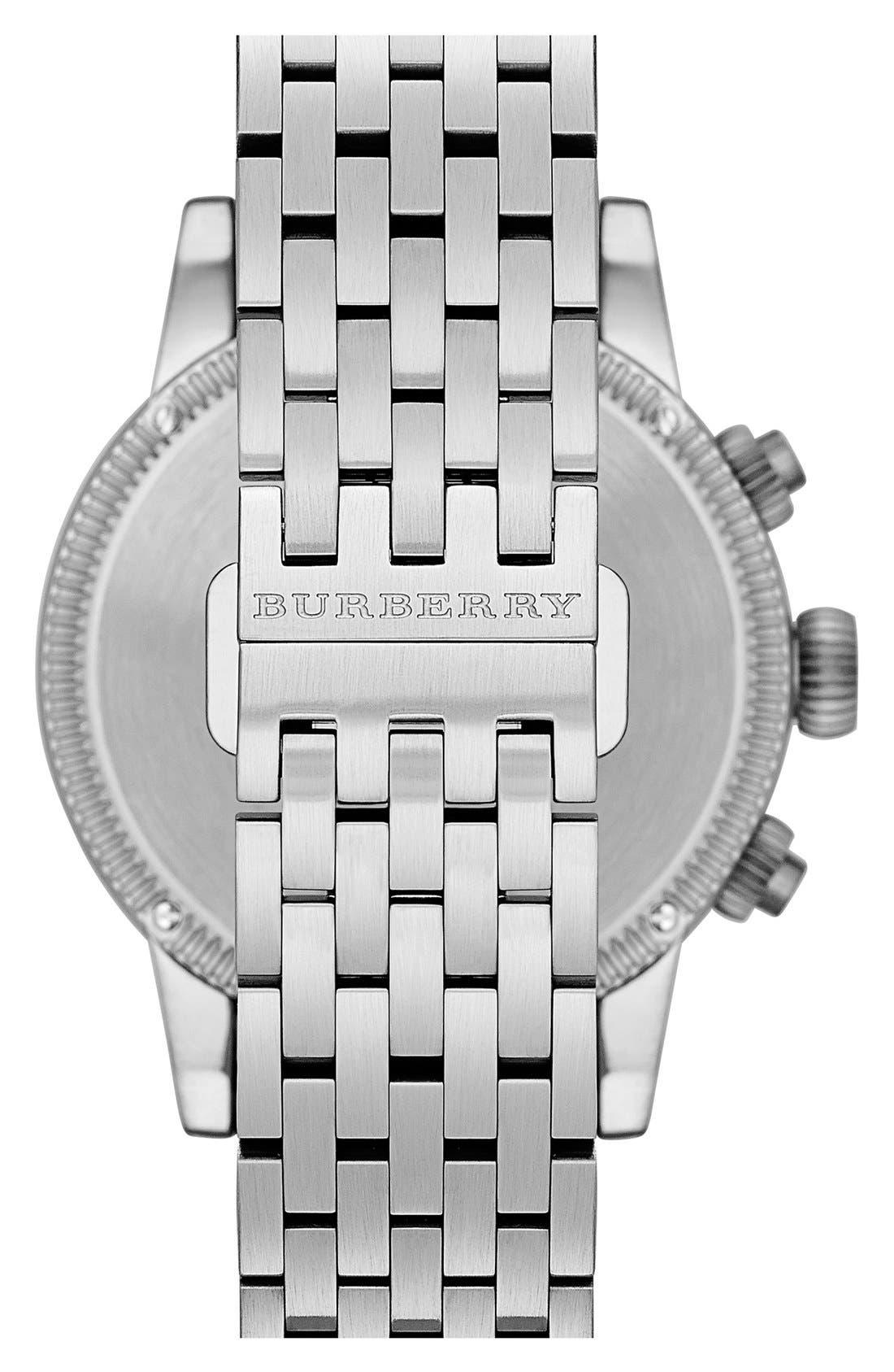 Alternate Image 2  - Burberry Round Chronograph Bracelet Watch, 42mm