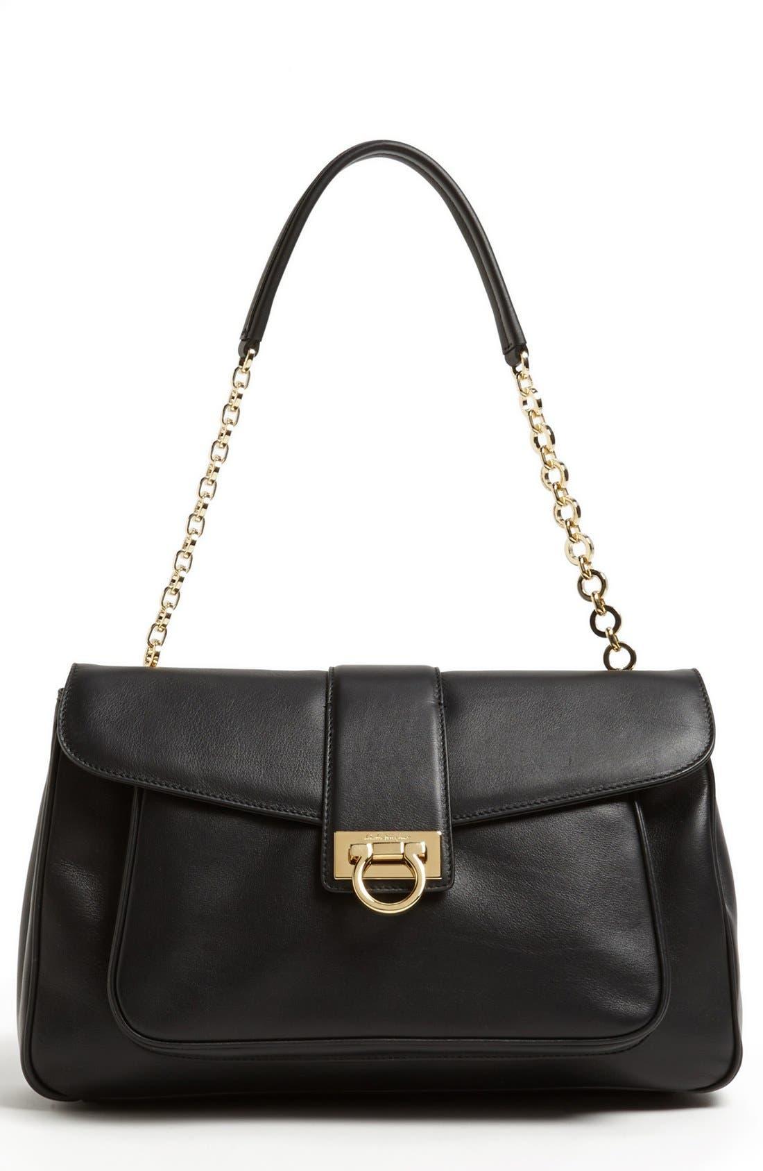 Main Image - Salvatore Ferragamo 'Paula' Leather Shoulder Bag