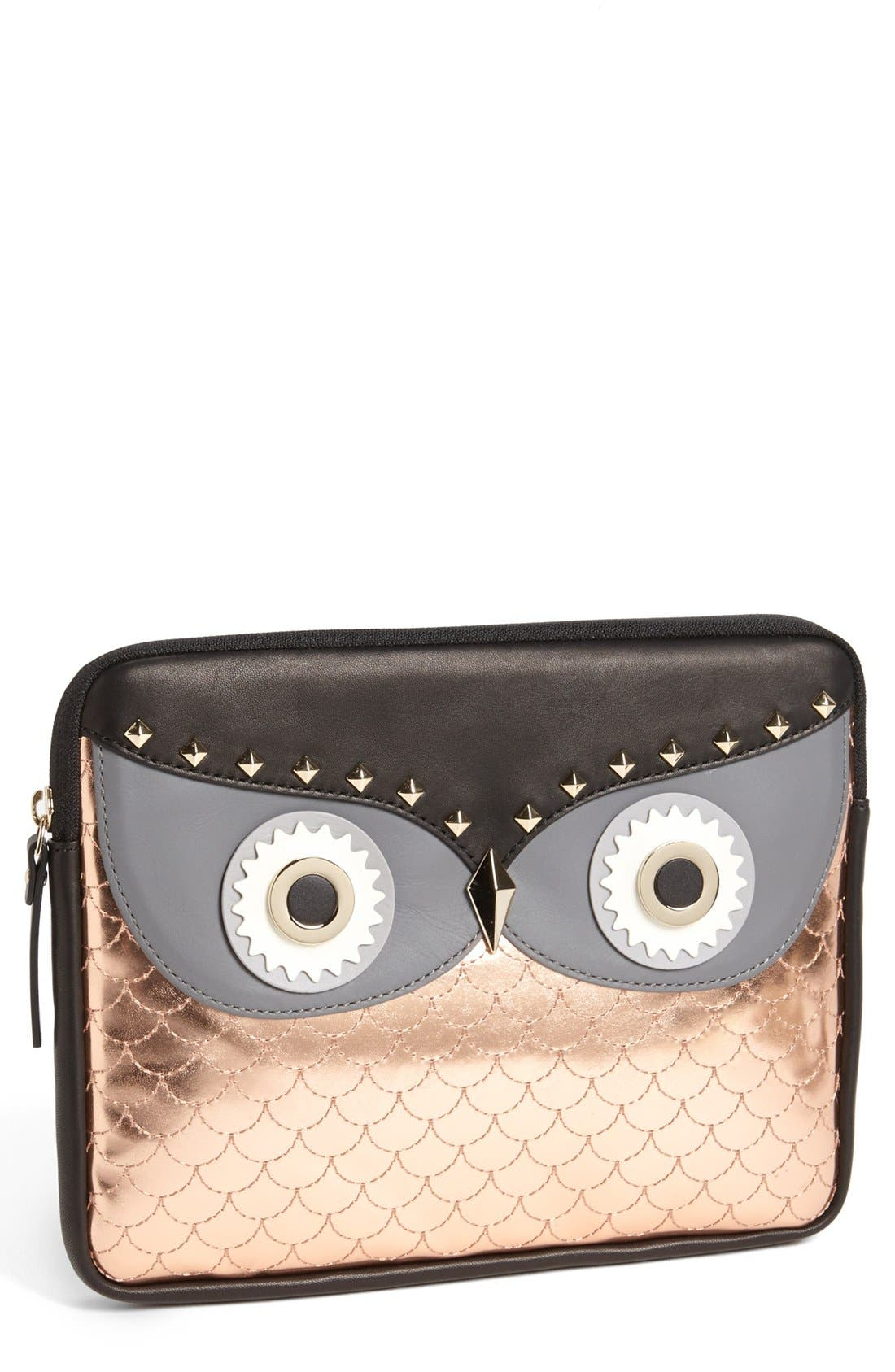 Alternate Image 1 Selected - kate spade new york 'owl' iPad sleeve