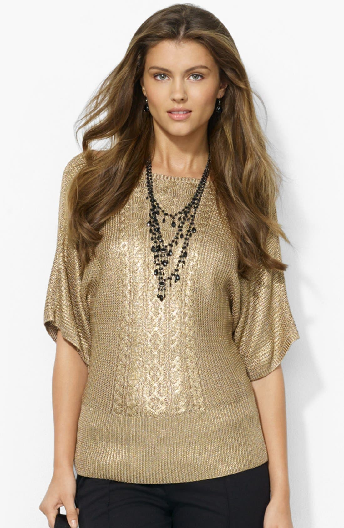 Alternate Image 1 Selected - Lauren Ralph Lauren Bateau Neck Sweater