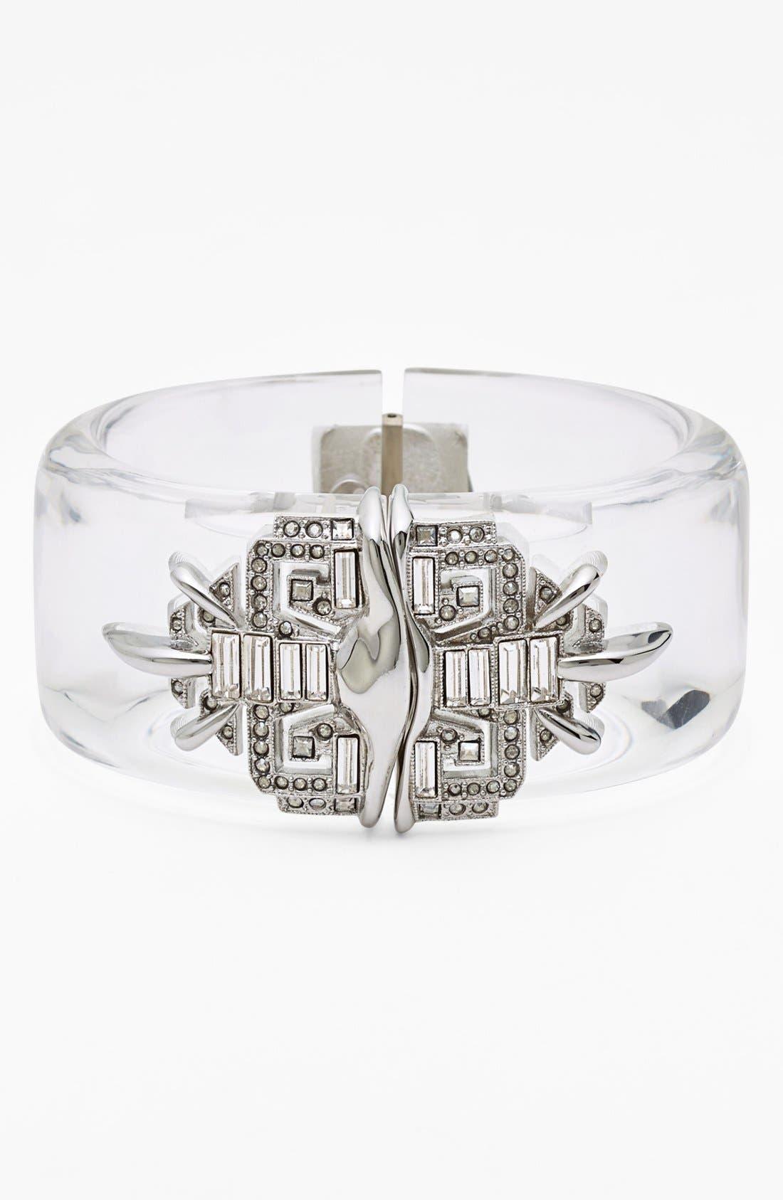Alternate Image 1 Selected - Alexis Bittar 'Lucite® - Winter Deco' Hinged Bracelet