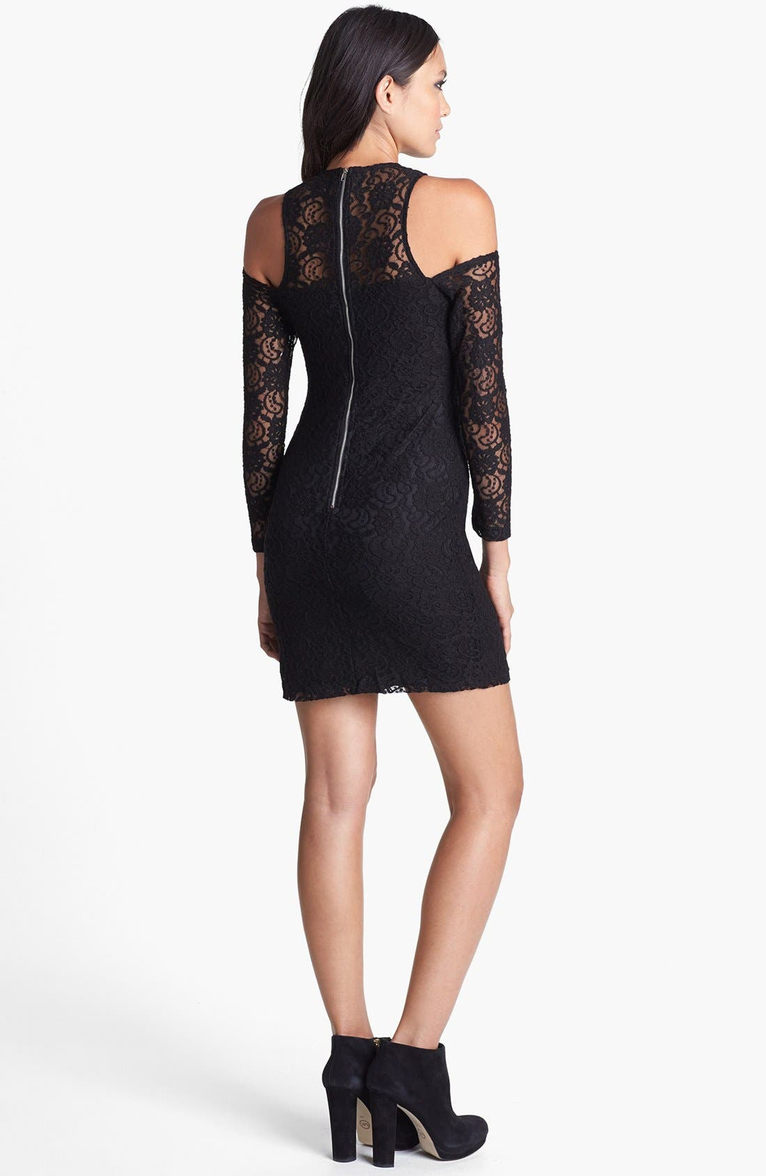 Alternate Image 2  - Glamorous Cold Shoulder Lace Body-Con Dress