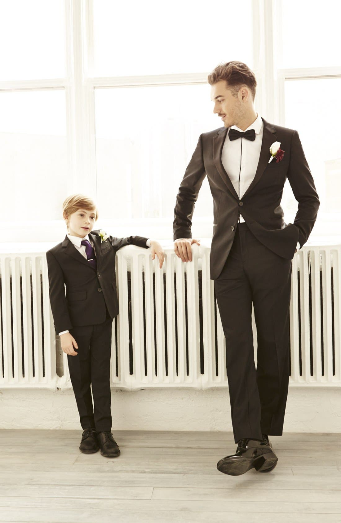 Alternate Image 2  - Nordstrom Silk Zipper Tie (Little Boys & Big Boys)