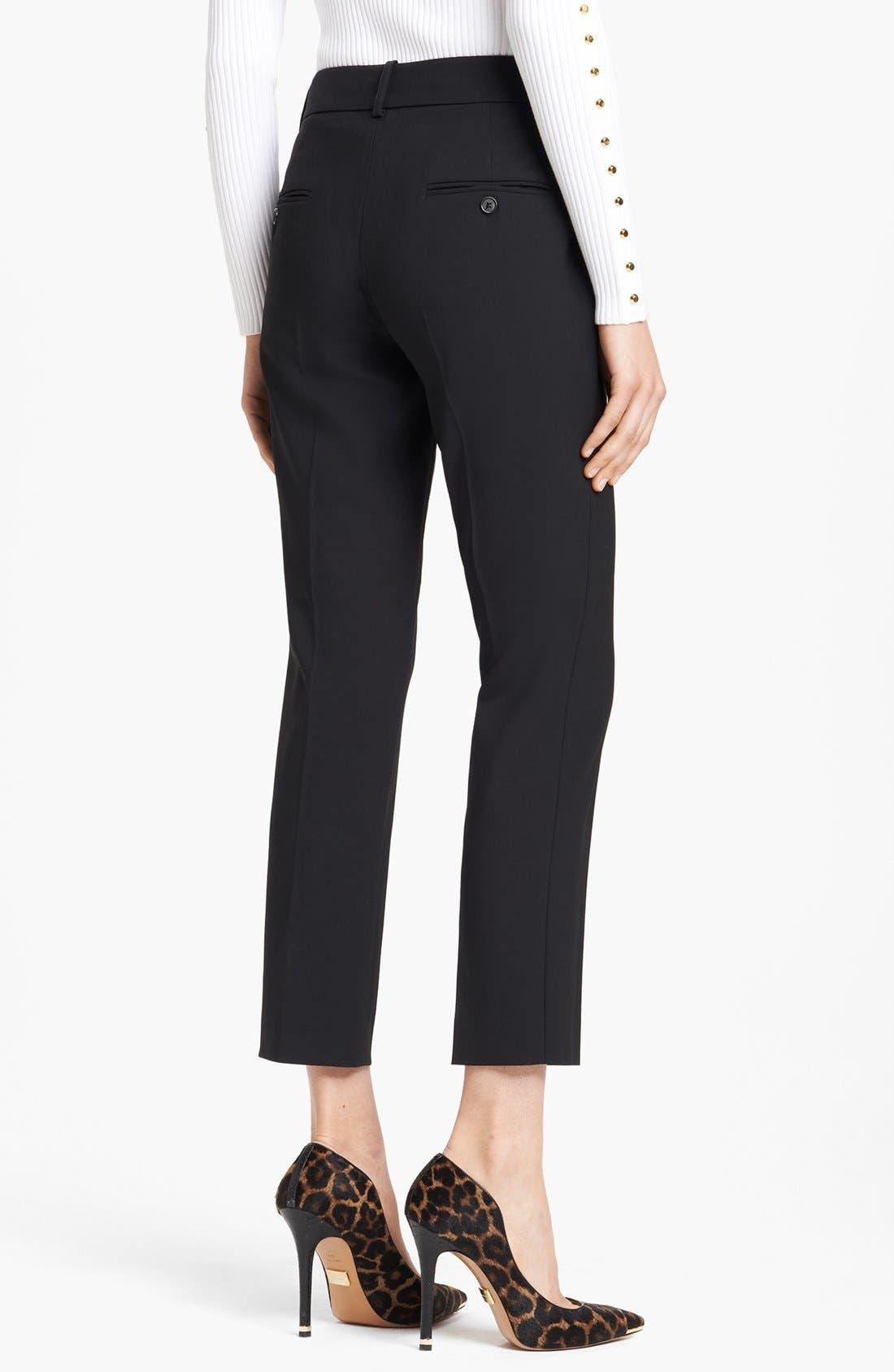 Alternate Image 2  - Michael Kors 'Samantha' Skinny Stretch Wool Pants