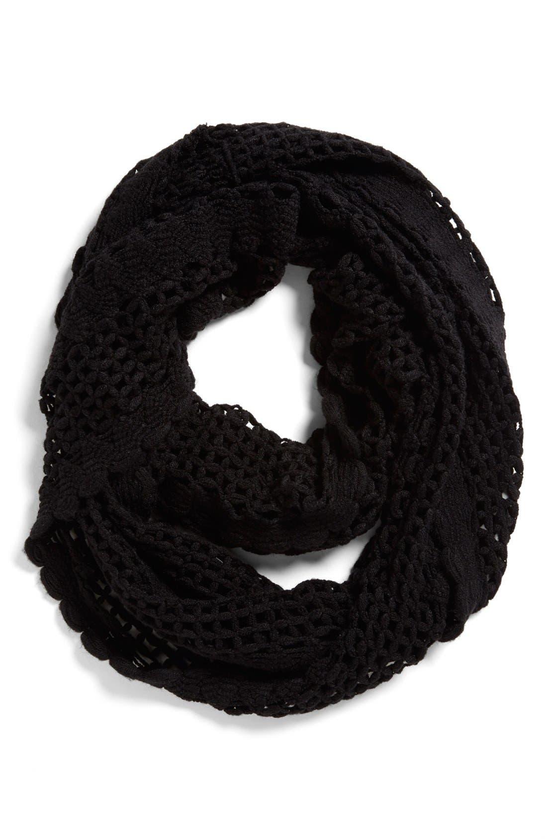 Main Image - Tildon Crocheted Infinity Scarf