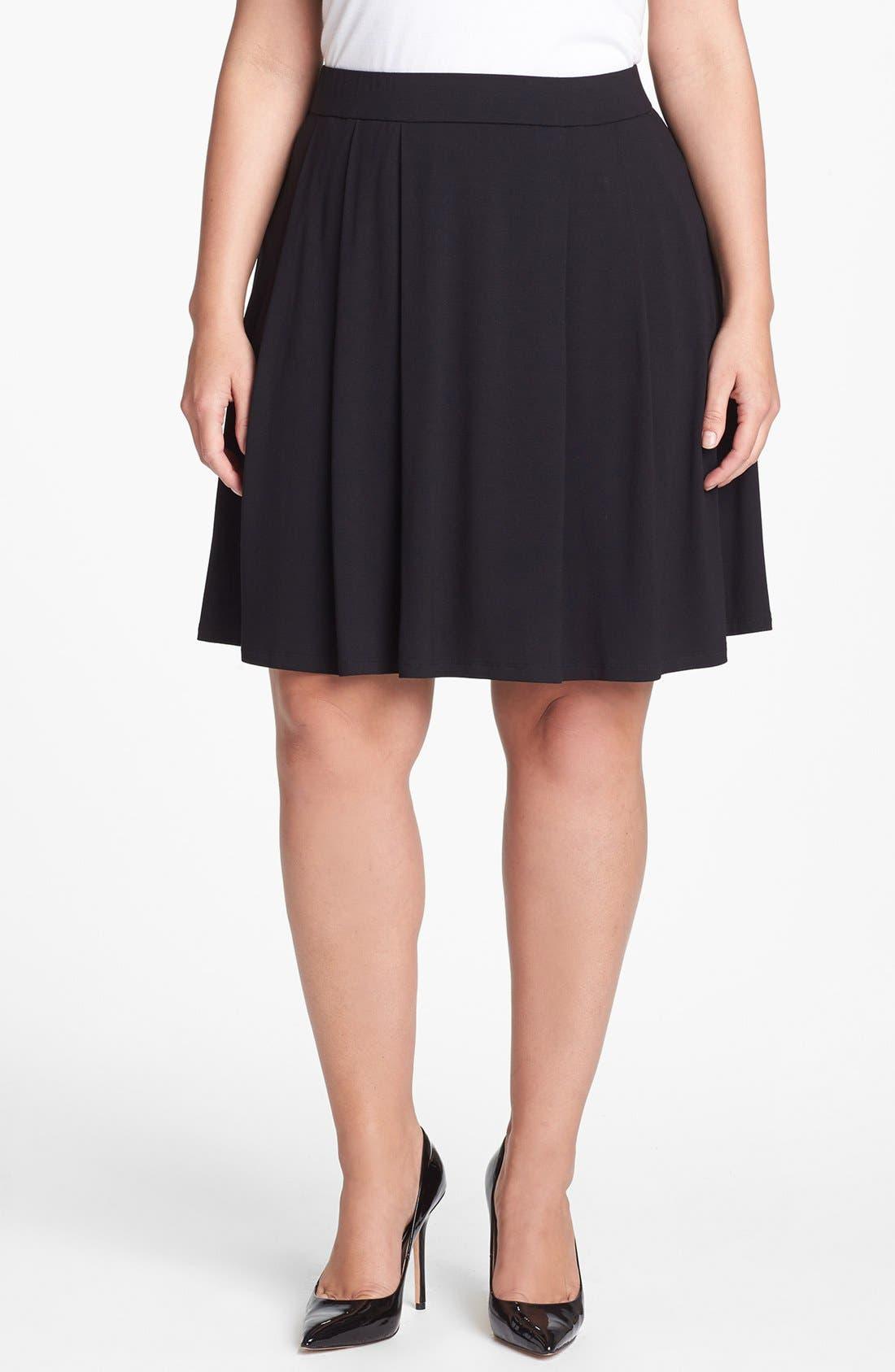 Main Image - Eileen Fisher Pleat Skirt (Plus Size)