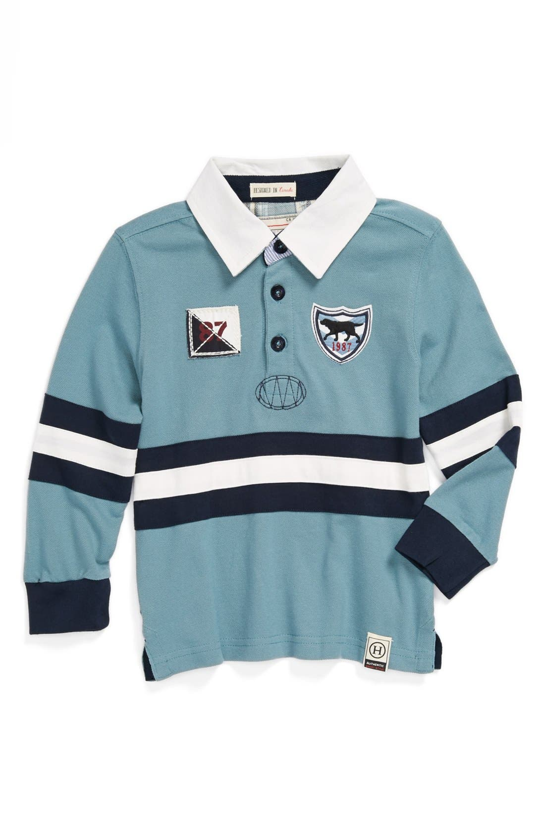 Alternate Image 1 Selected - Hatley 'Labs' Rugby Shirt (Toddler Boys)