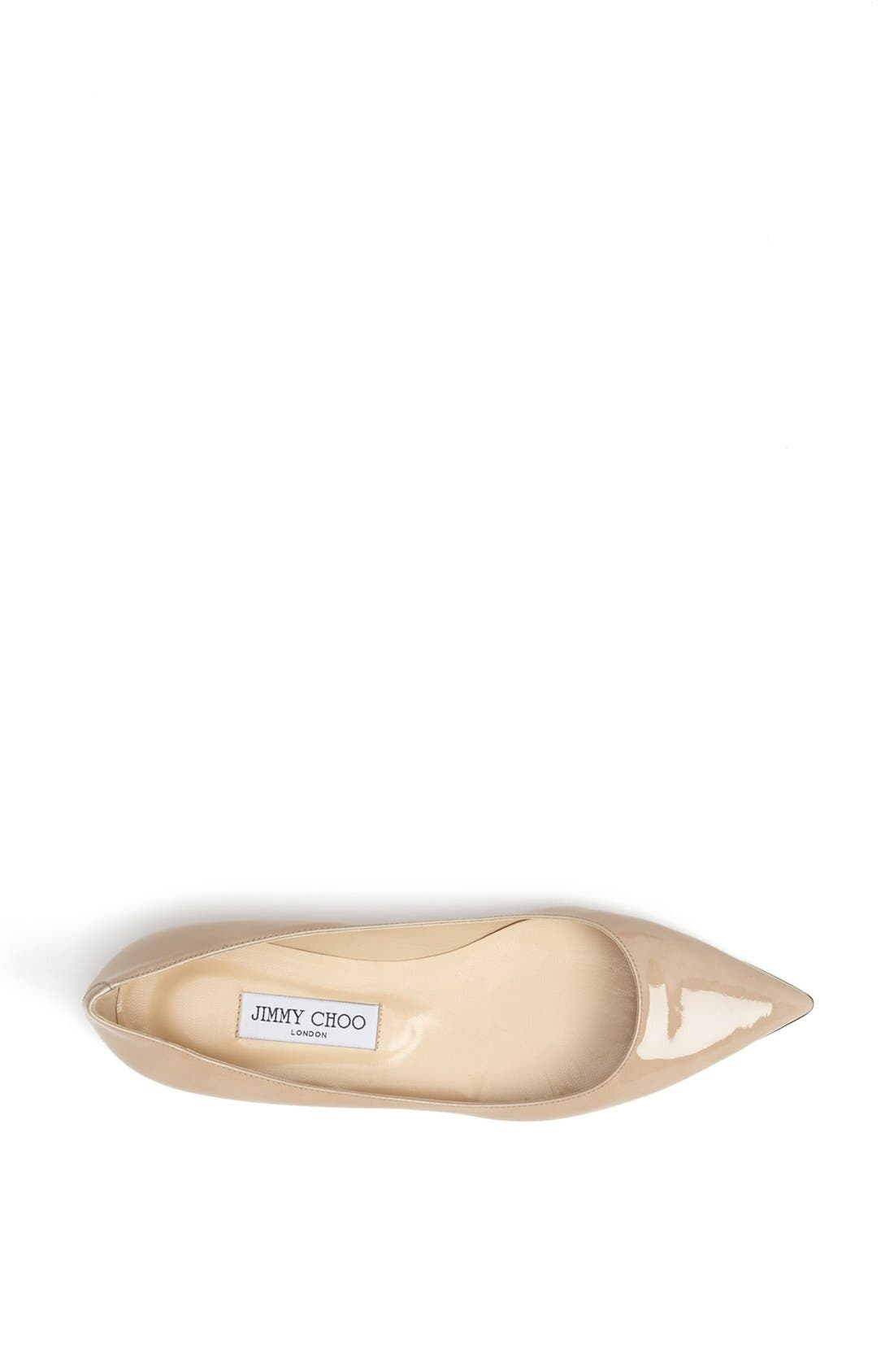 Alternate Image 3  - Jimmy Choo 'Alina' Pointy Toe Flat (Women)