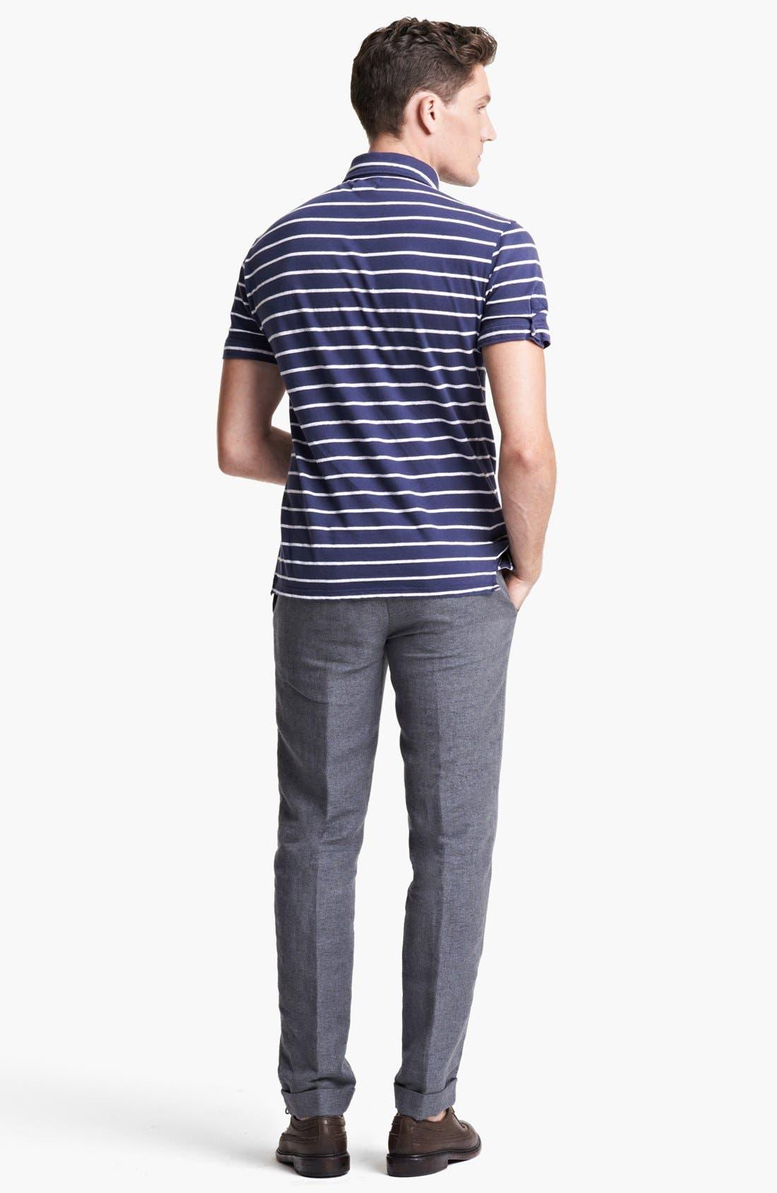 Alternate Image 5  - Michael Bastian Stripe Jersey Polo