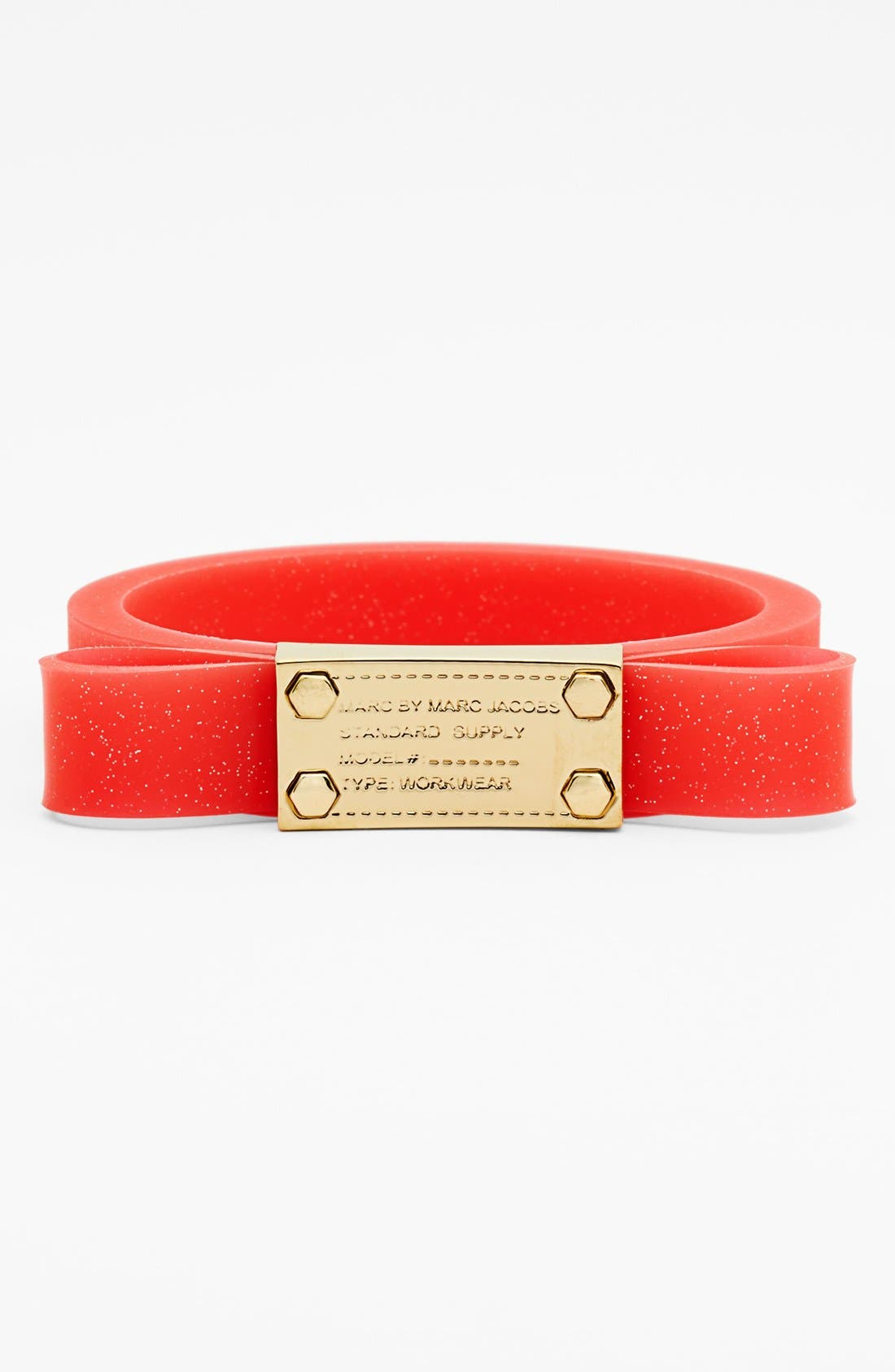 Alternate Image 1 Selected - MARC BY MARC JACOBS Bow & Plate Silicon Bangle