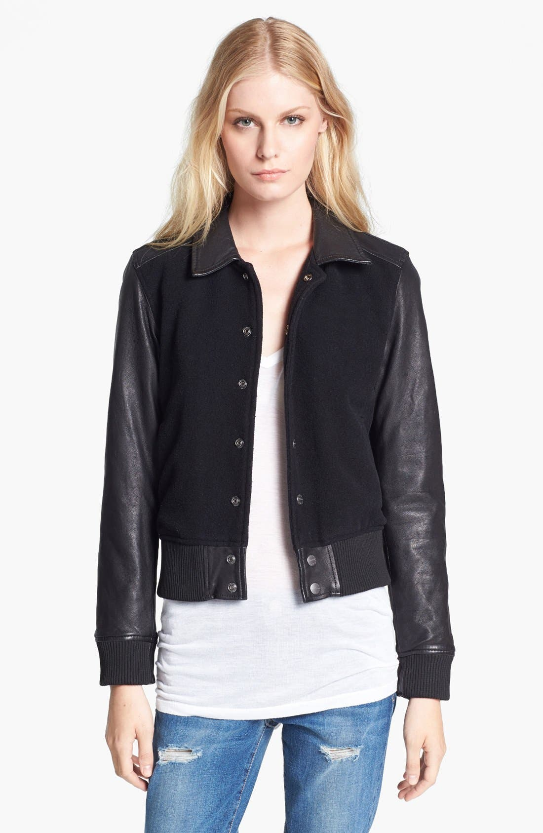 Main Image - Current/Elliott 'The Varsity' Jacket