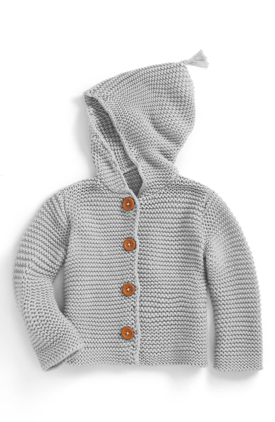 Main Image - Stem Baby 'Lofty' Organic Cotton Hooded Cardigan (Baby)