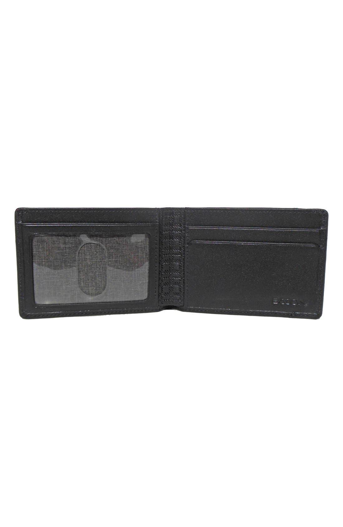 'Grant Slimster' RFID Blocker Leather Wallet,                             Alternate thumbnail 2, color,                             Black/ Grey