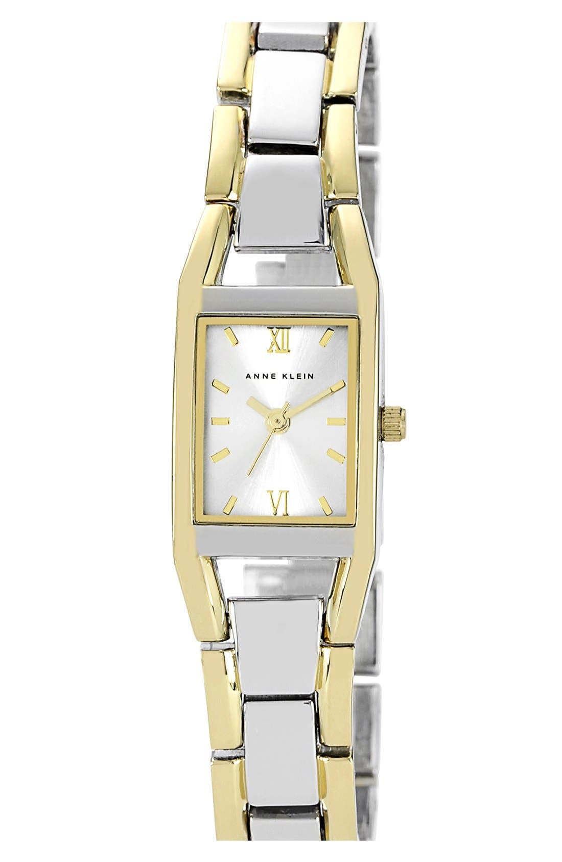 Alternate Image 1 Selected - Anne Klein Two Tone Bracelet Watch, 19mm