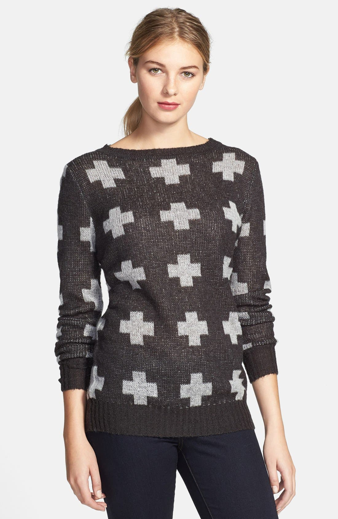 Alternate Image 1 Selected - Press Intarsia Tunic Sweater