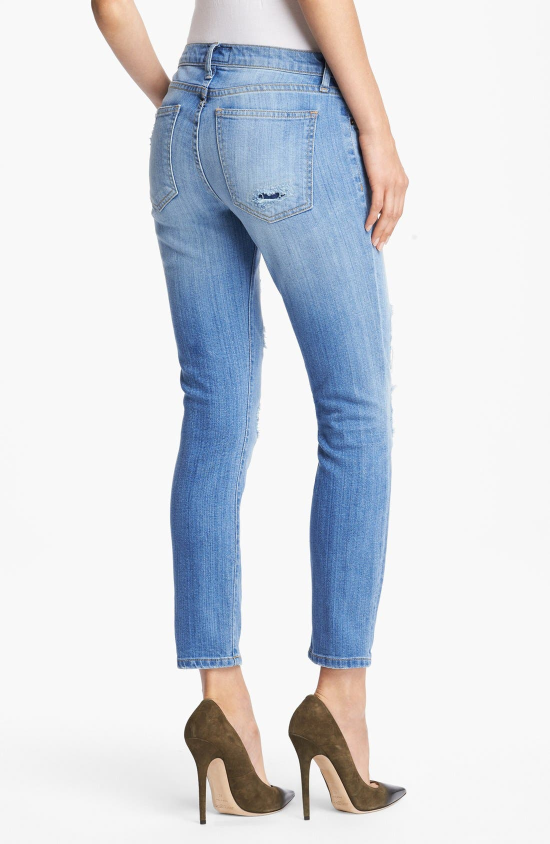 Alternate Image 2  - Current/Elliott 'The Stiletto' Stretch Jeans (Omaha Patch Repair)