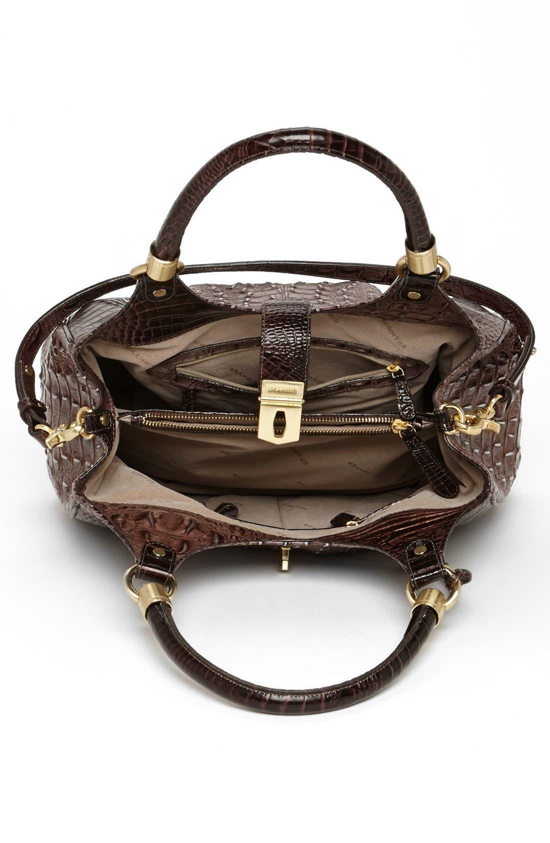 Alternate Image 3  - Brahmin Elisa Croc Embossed Leather Shoulder Bag