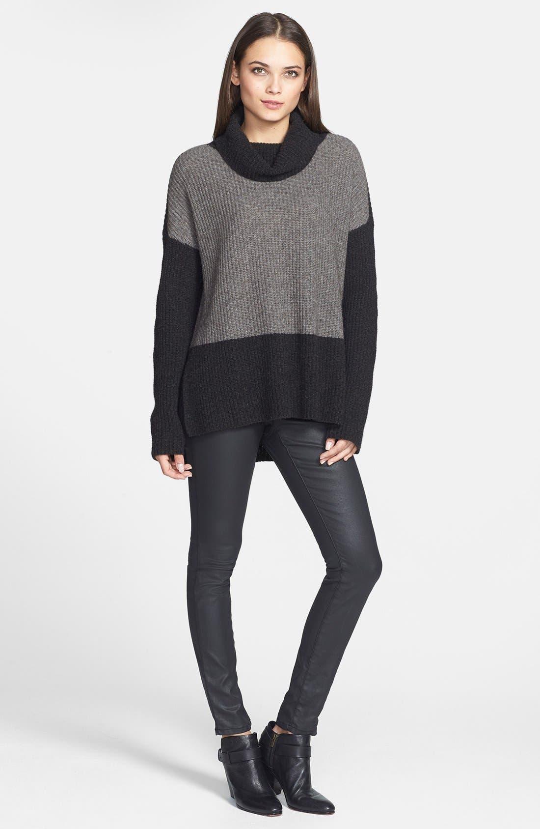 Alternate Image 4  - Eileen Fisher Supersoft Yak Hair & Wool Turtleneck Sweater