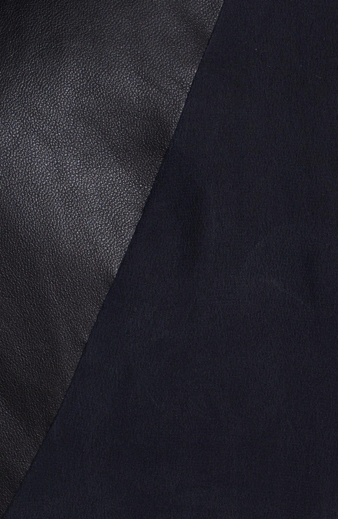 Alternate Image 3  - rag & bone 'Jade' Leather Trim Silk Tank (Nordstrom Exclusive)