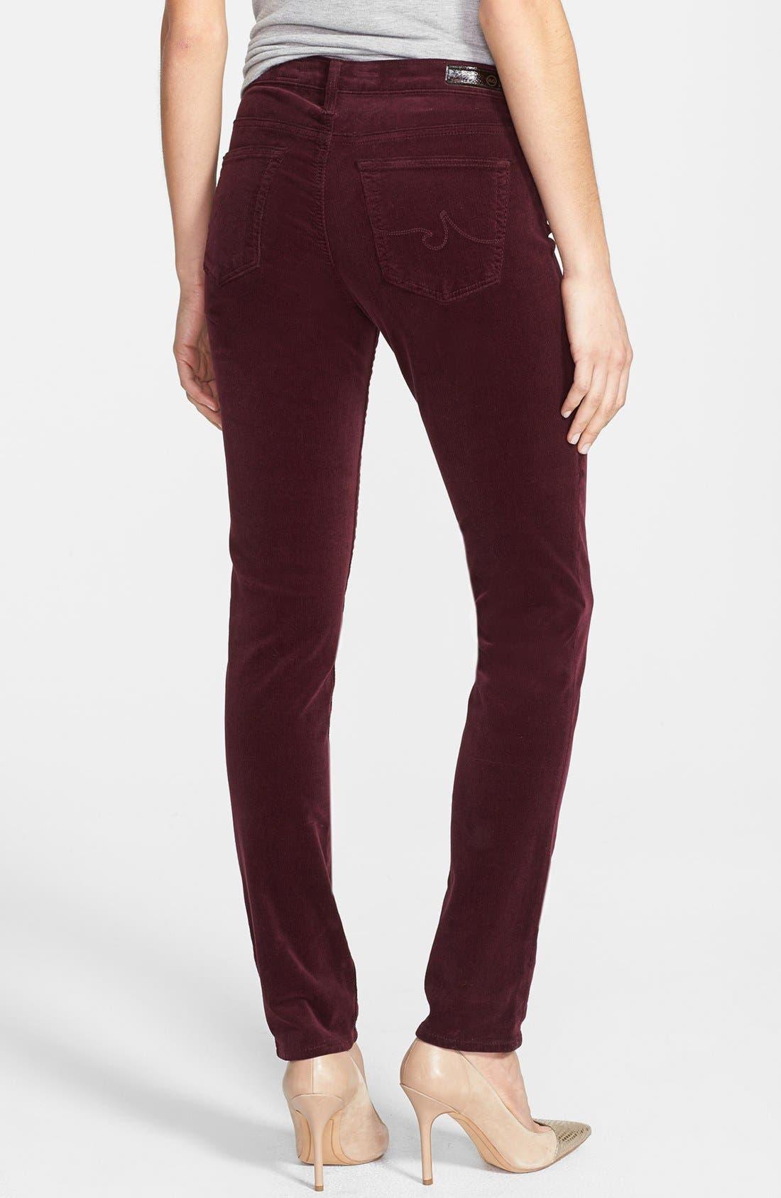 Alternate Image 2  - AG Jeans 'Stilt' Skinny Stretch Velvet Pants