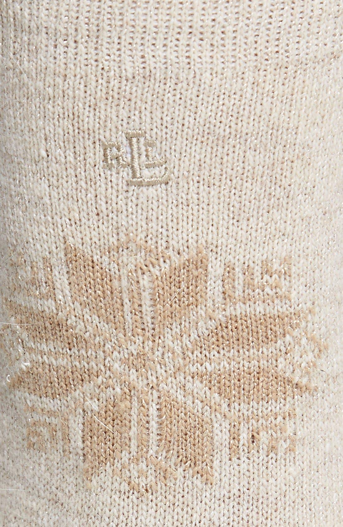 Alternate Image 2  - Ralph Lauren Snowflake Socks