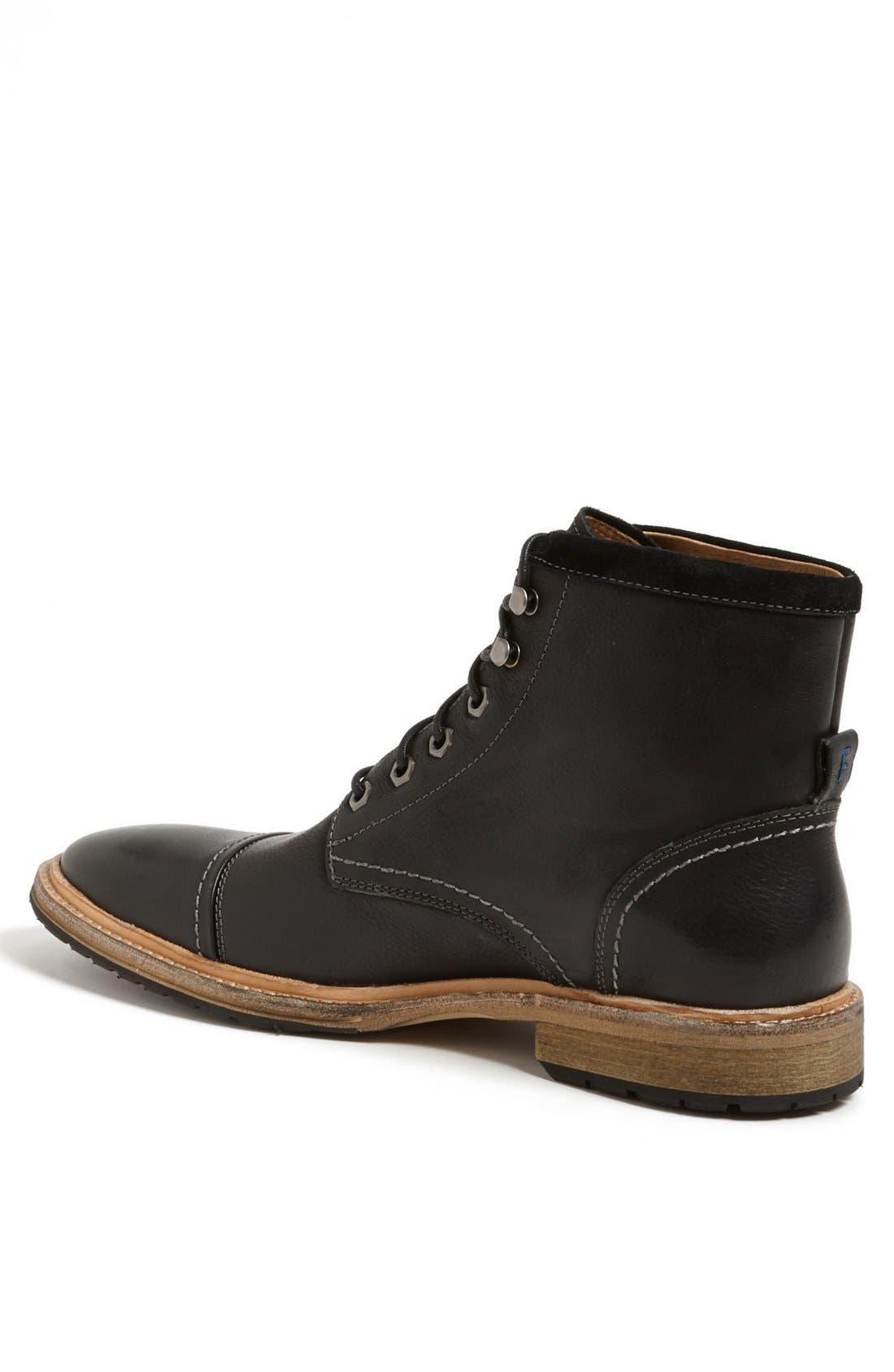 'Indie' Cap Toe Boot,                             Alternate thumbnail 2, color,                             Black