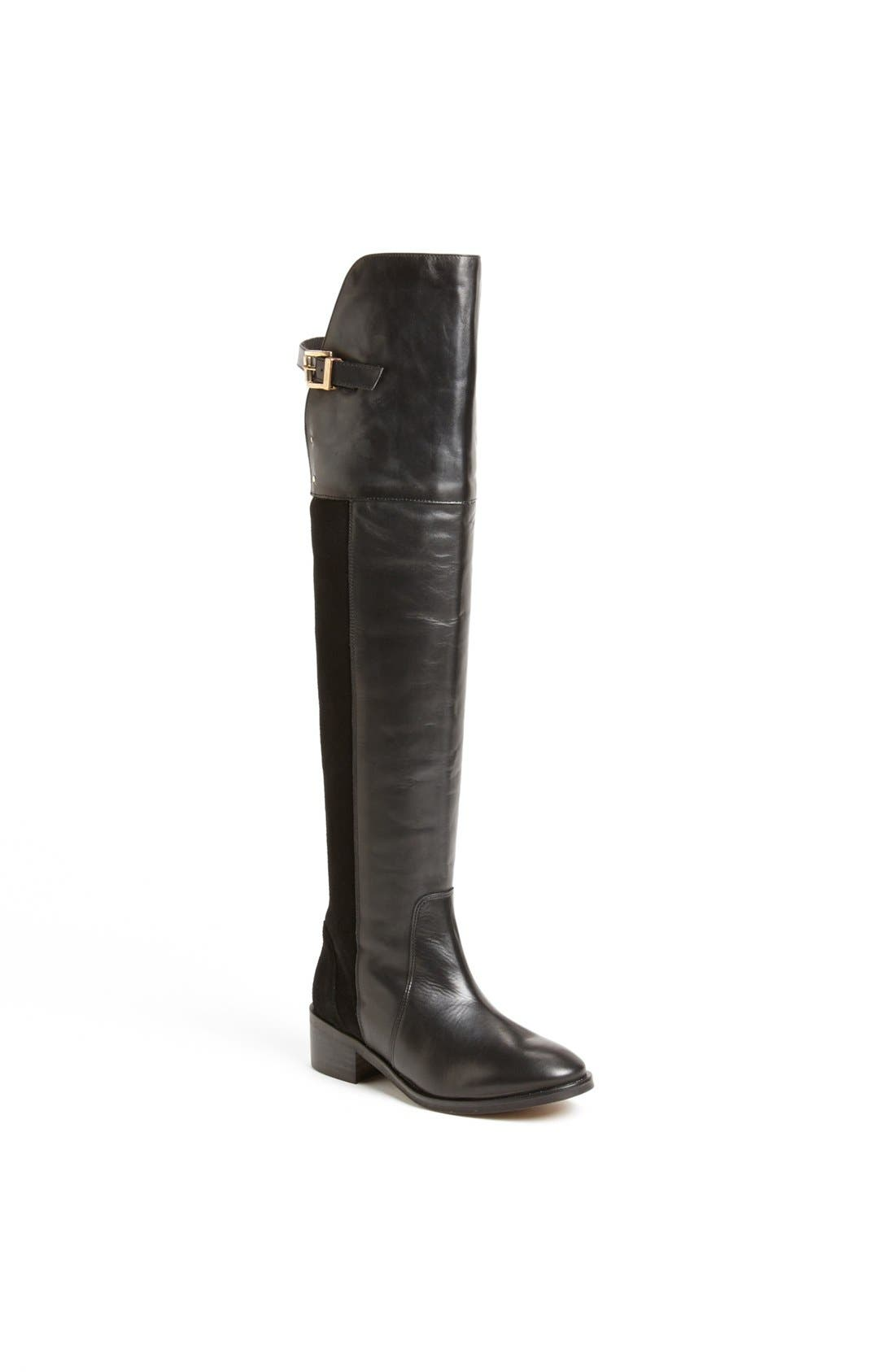 Main Image - Topshop 'Destiny Mix' Over the Knee Boot