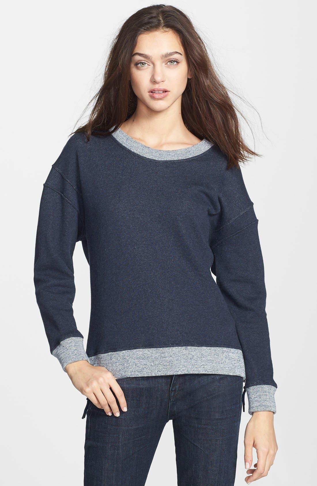Alternate Image 1 Selected - Theory 'Corbit B' Side Zip Cotton Sweatshirt