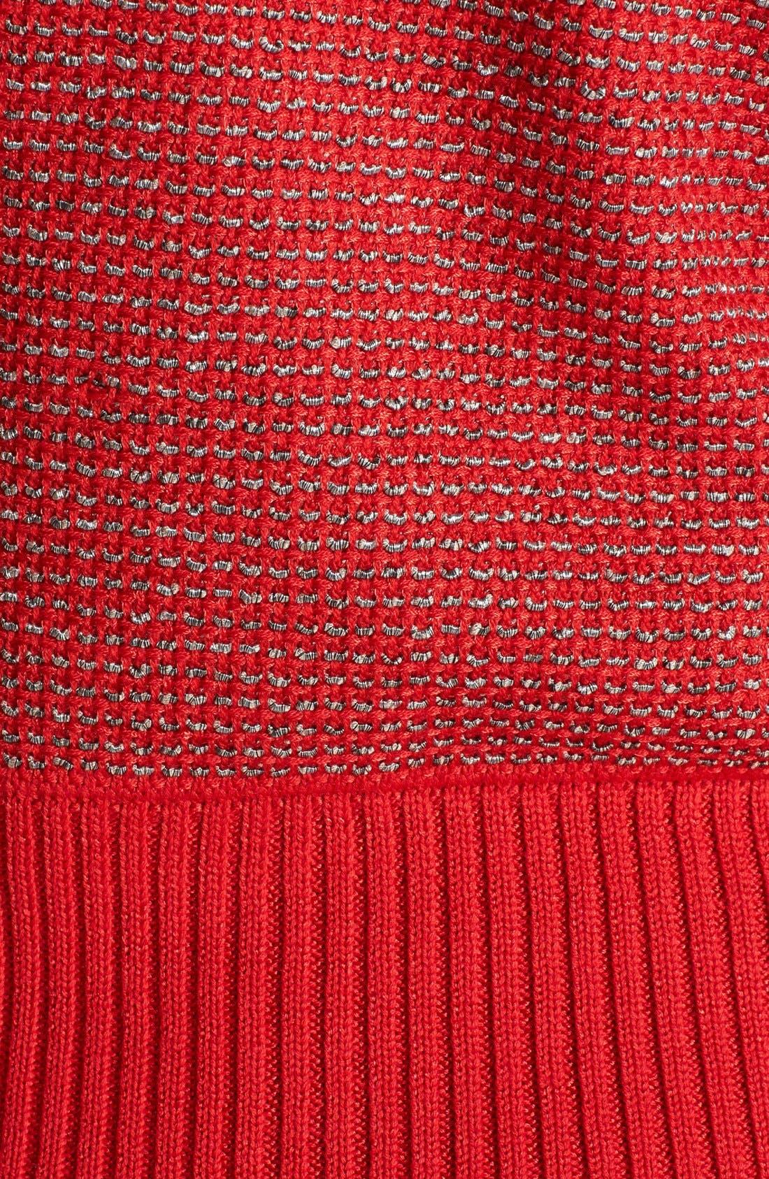 Alternate Image 3  - St. John Yellow Label Rib Collar Novelty Knit Bomber Jacket