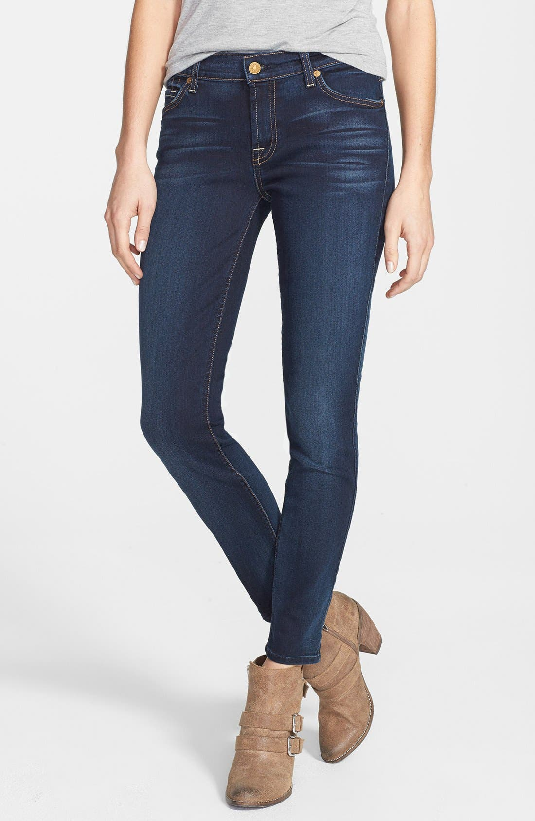 Main Image - 7 For All Mankind® Skinny Ankle Jeans (Merci Blue)