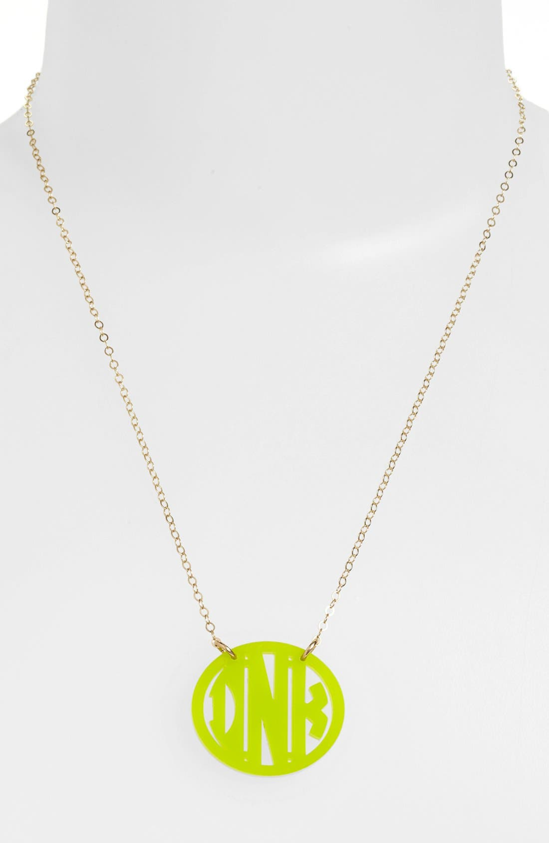 Moon and Lola Small Personalized Monogram Pendant Necklace (Nordstrom Exclusive)
