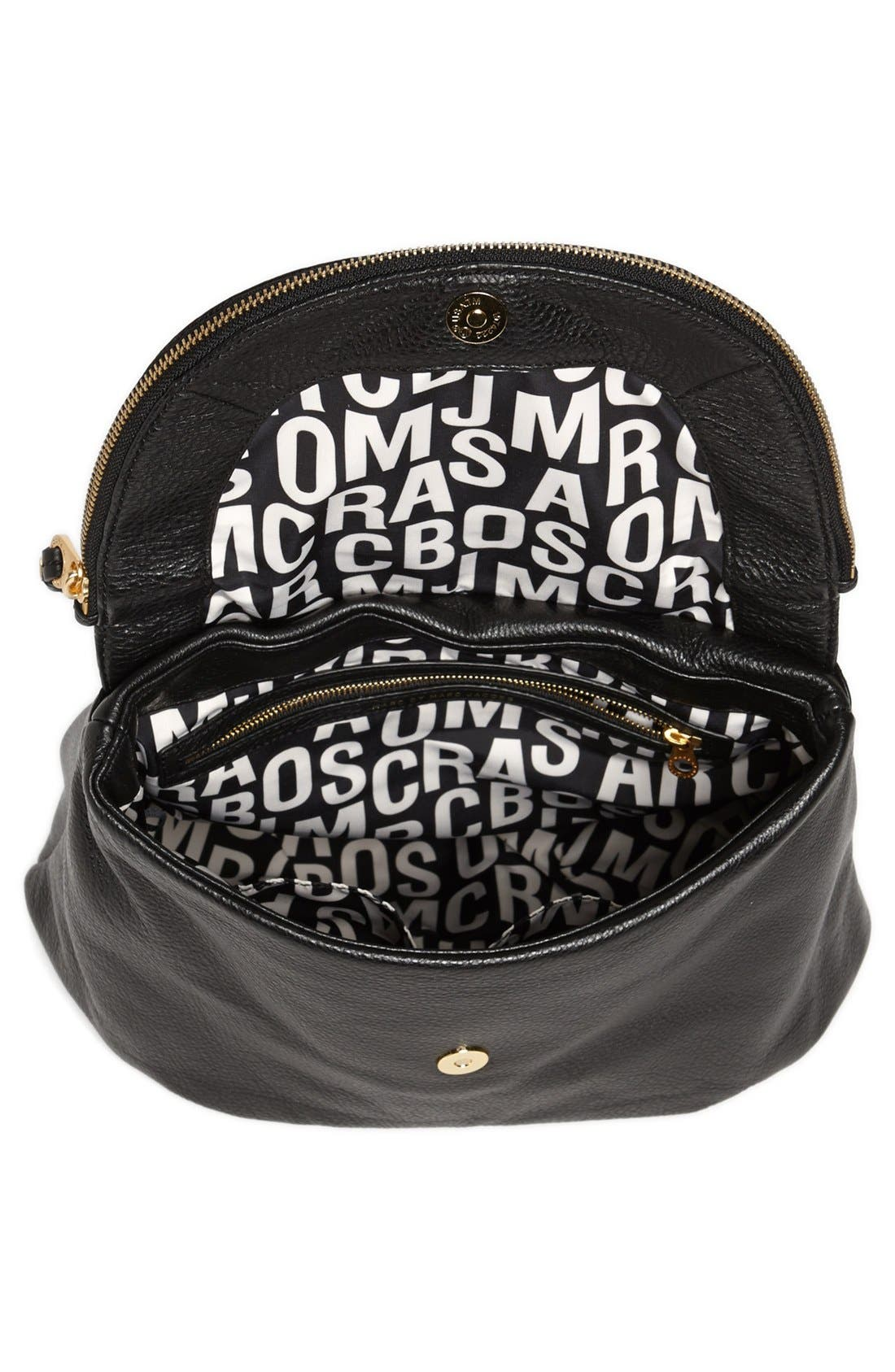 MARC BY MARC JACOBS 'Classic Q - Mariska' Backpack,                             Alternate thumbnail 4, color,                             Black