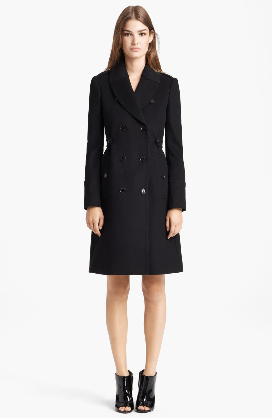 Alternate Image 1 Selected - Burberry London Pleated Back Wool & Cashmere Coat