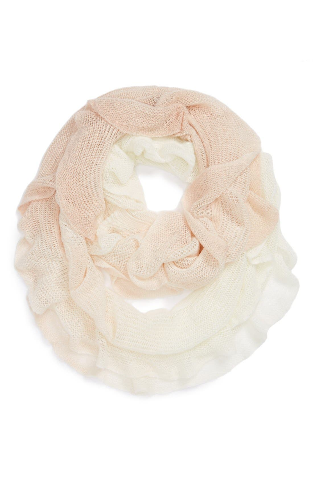 Alternate Image 1 Selected - The Accessory Collective Ruffle Ombré Scarf (Girls)