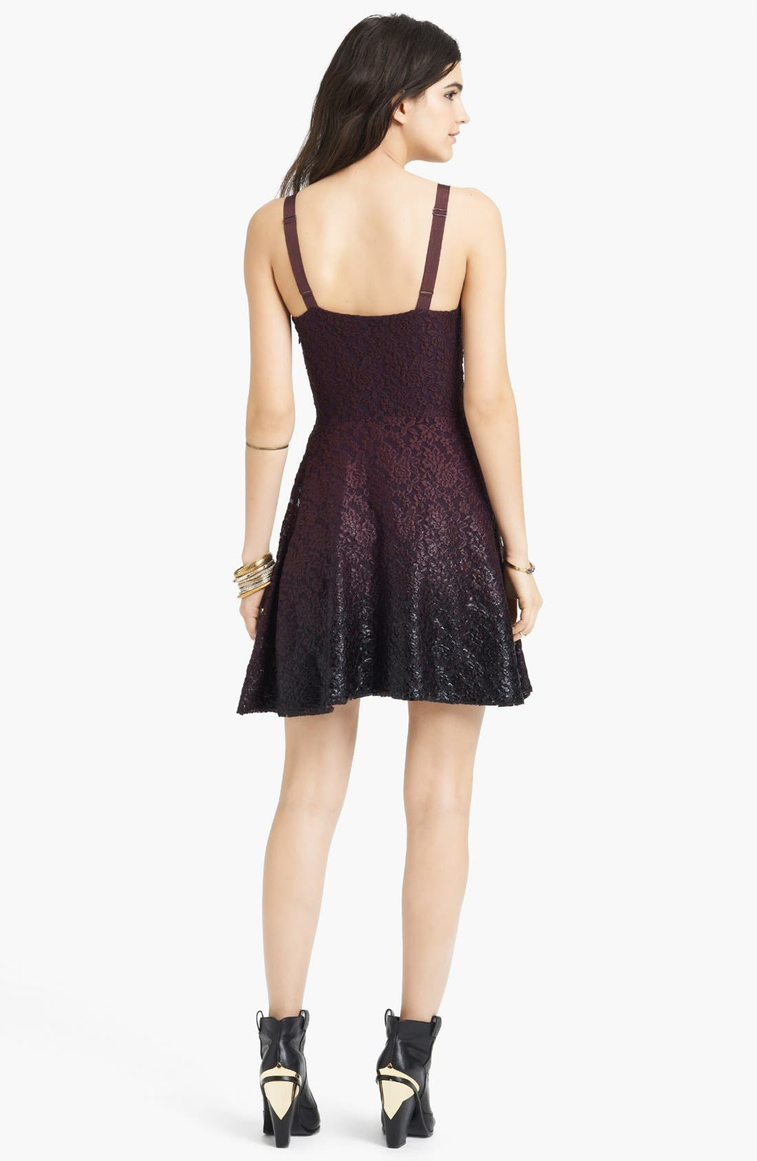 Alternate Image 2  - Free People Foiled Ombré Lace Fit & Flare Dress