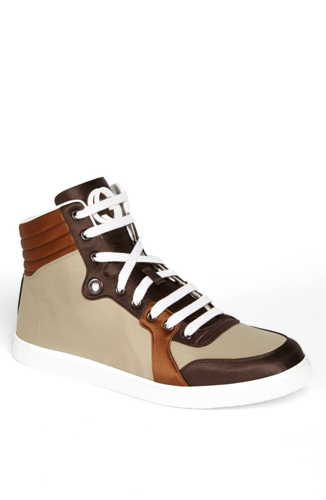 Alternate Image 1 Selected - Gucci 'Coda' Satin High Top Sneaker